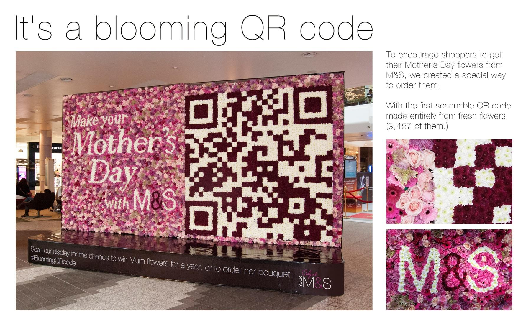M&S Ambient Ad -  Blooming QR Code