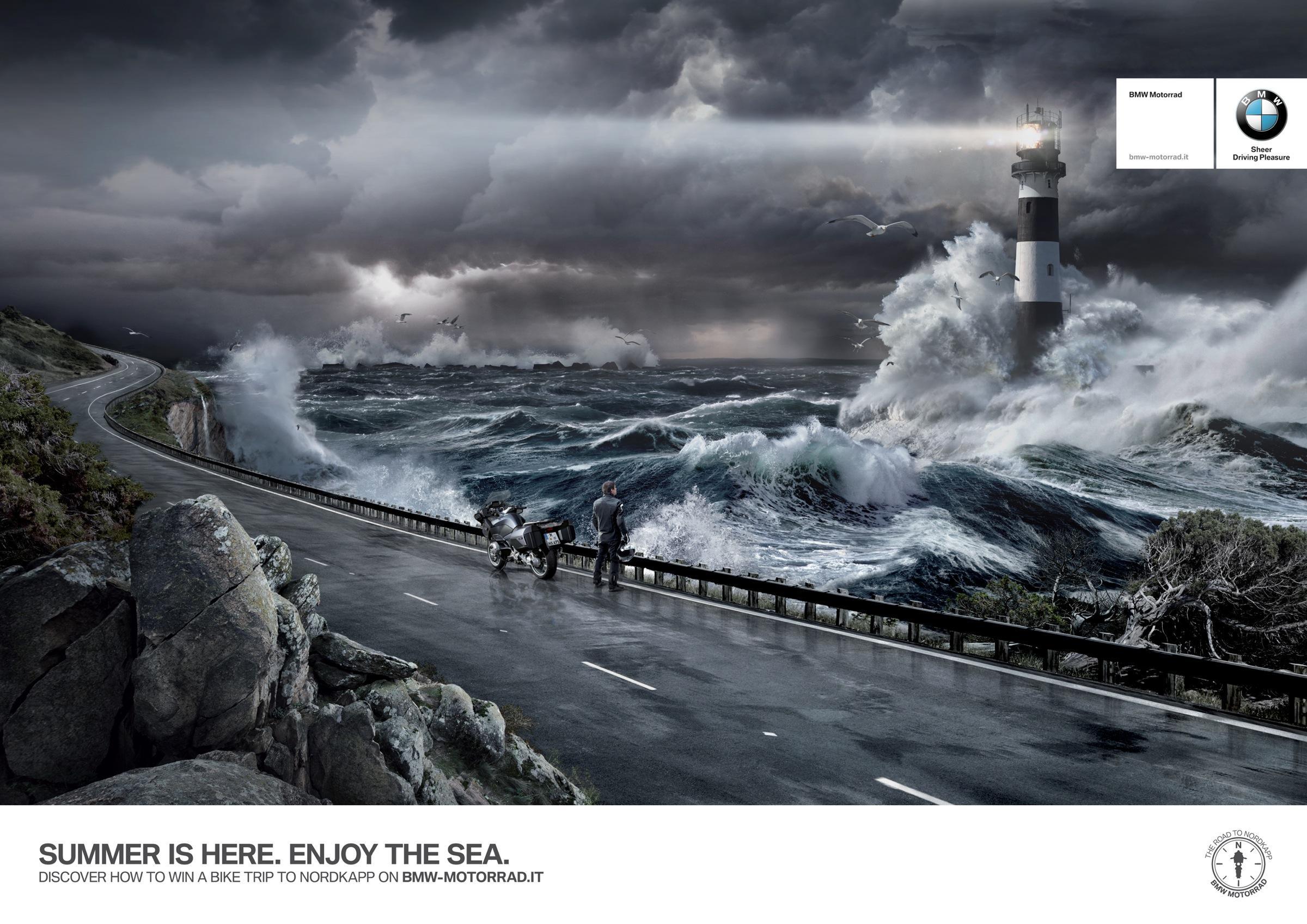 BMW Print Ad -  The Road to Nordkapp, Sea