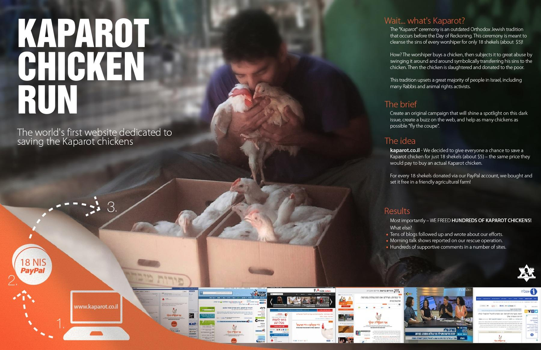 Animal Protection Association Digital Ad -  Kaparot Chicken Run