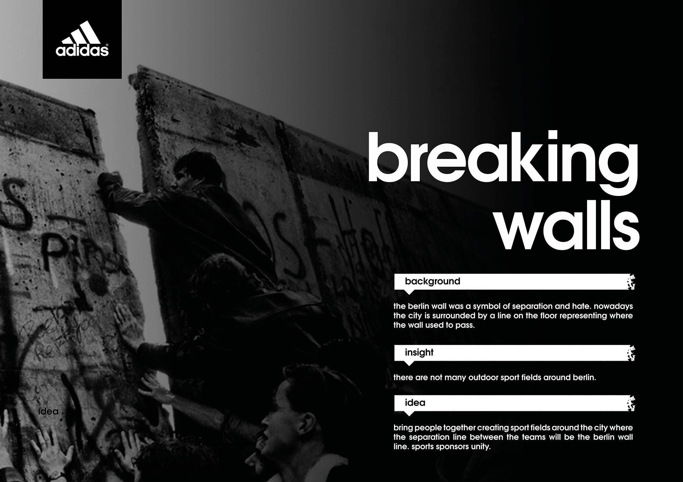 Adidas Experiential Advert By Miami Ad School Adidas Breaking Walls