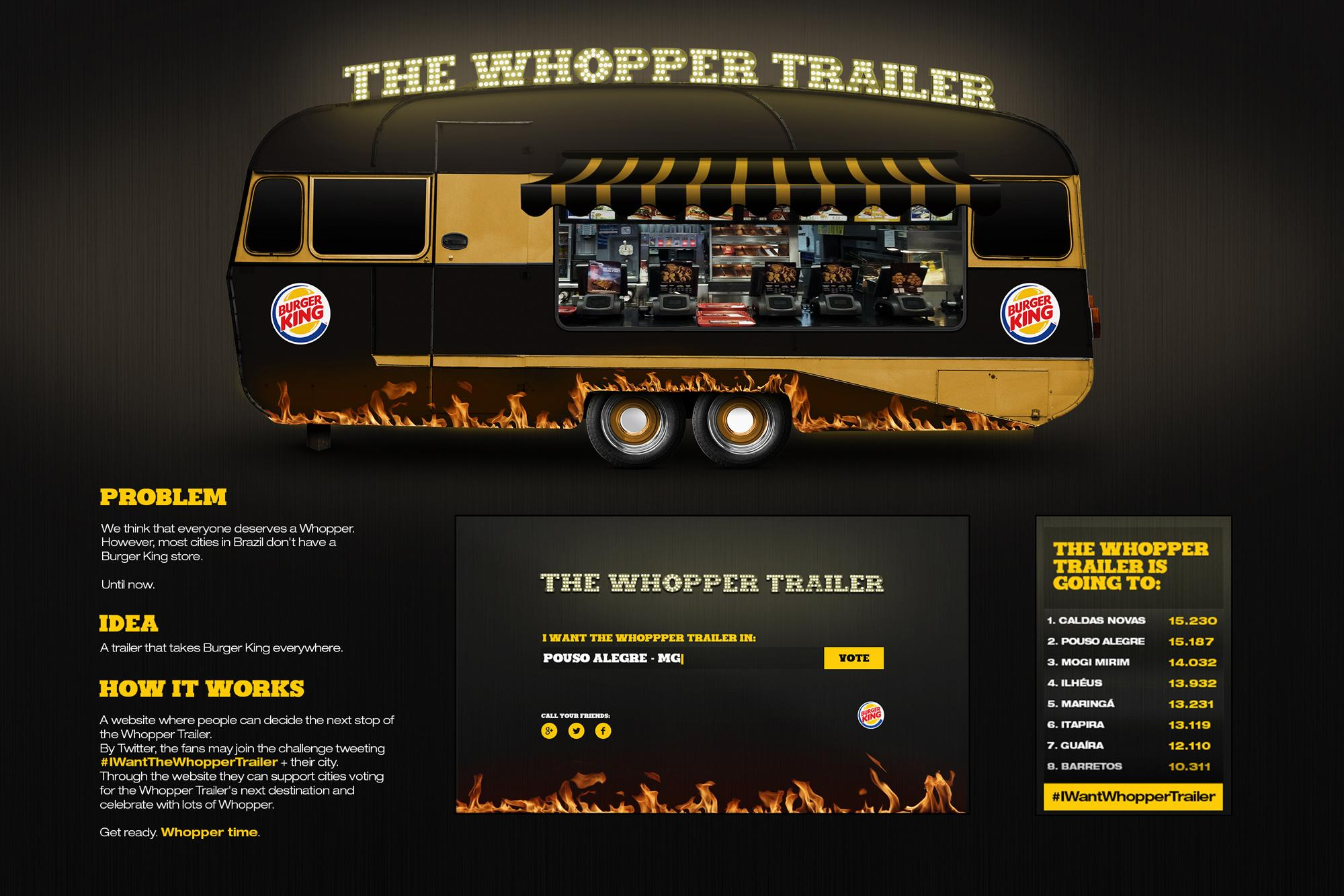 Burger King Ambient Ad -  The Whopper Trailer