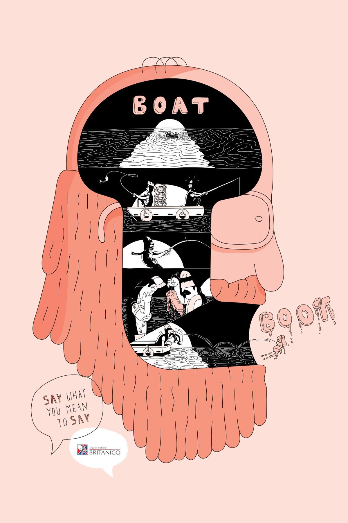 Británico Print Ad -  Boat