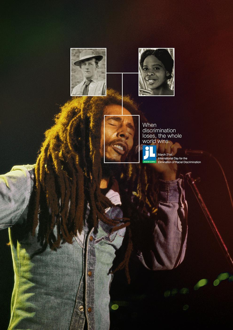 JL Newspaper Print Ad -  Bob Marley