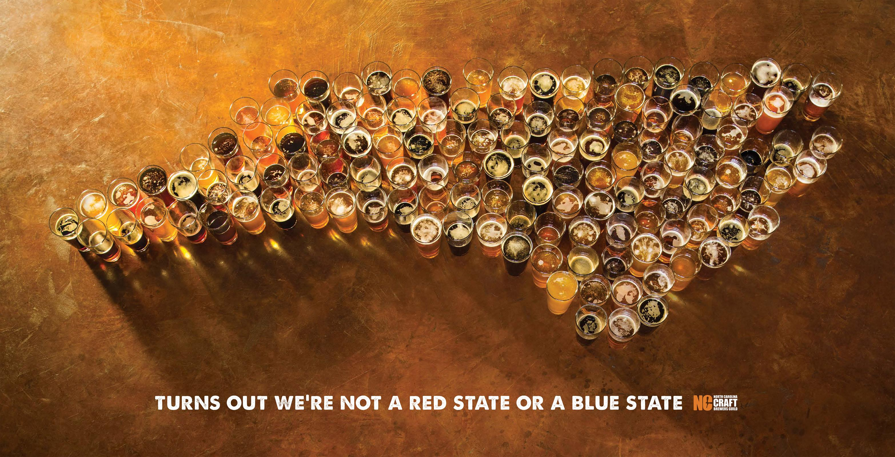 North Carolina Craft Brewers Guild Print Ad - We're a Beer State
