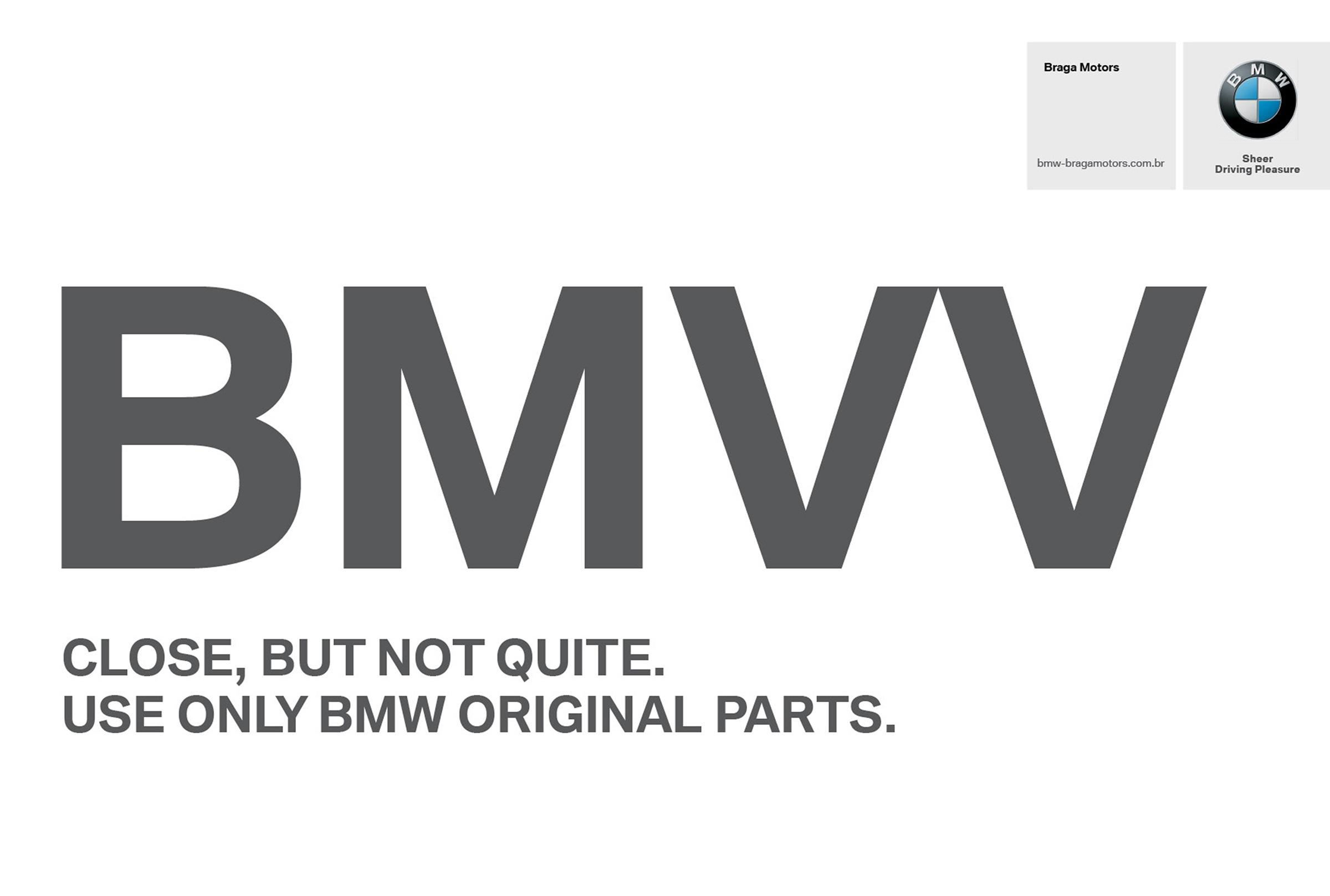 BMW Print Ad -  Not close enough