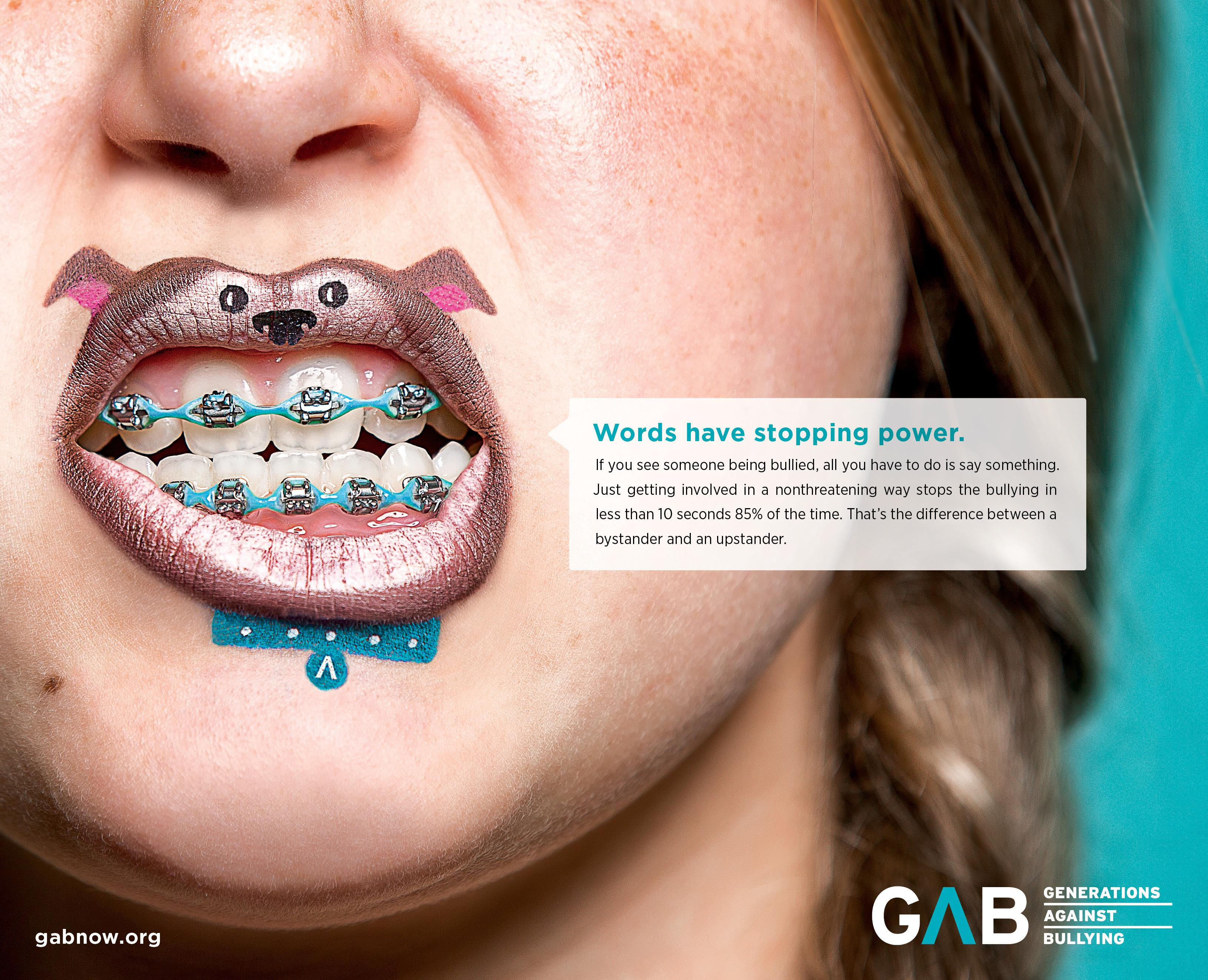 Generations Against Bullying Print Ad - Stopping Power
