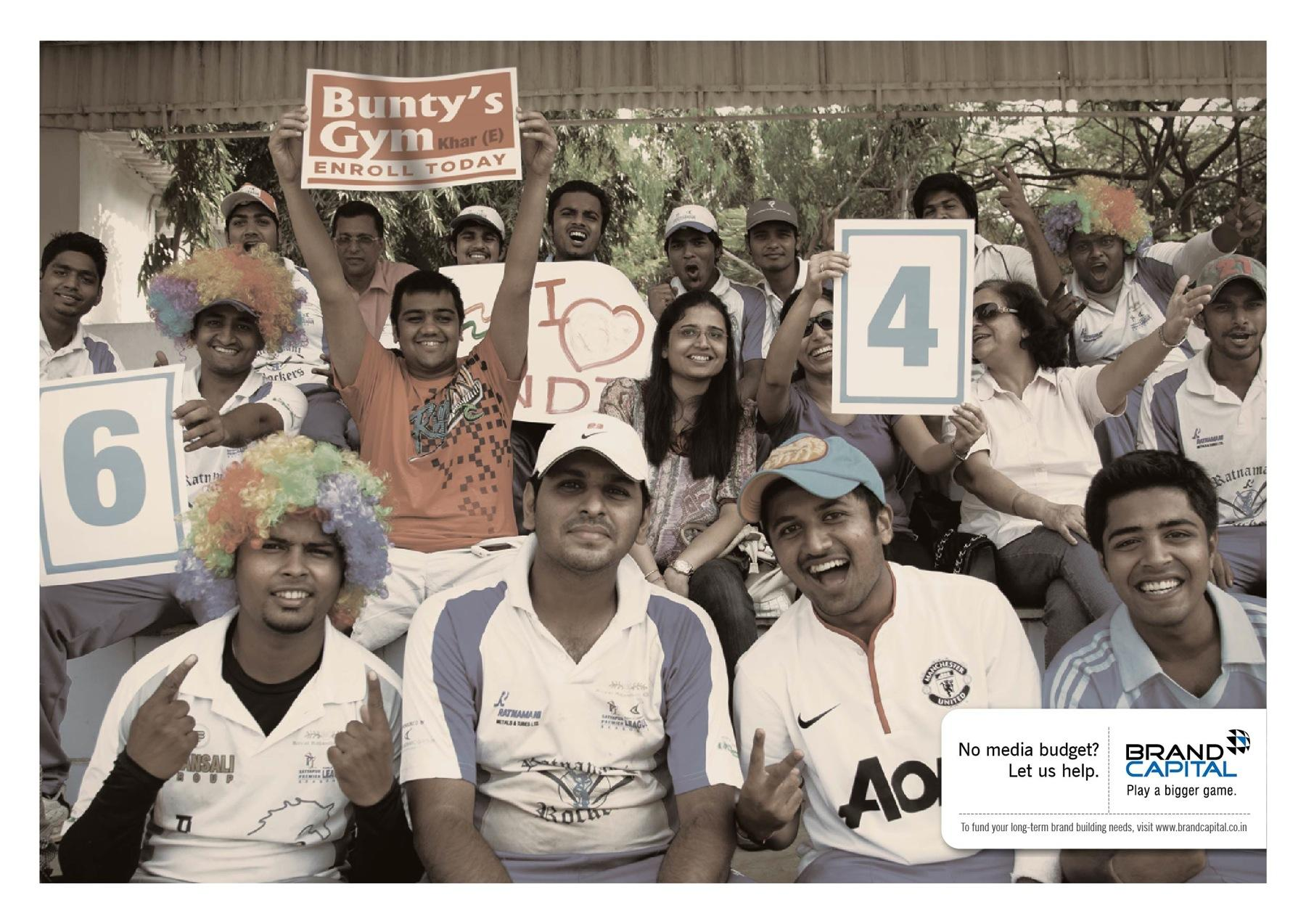 Brand Capital Print Ad -  Cricket match