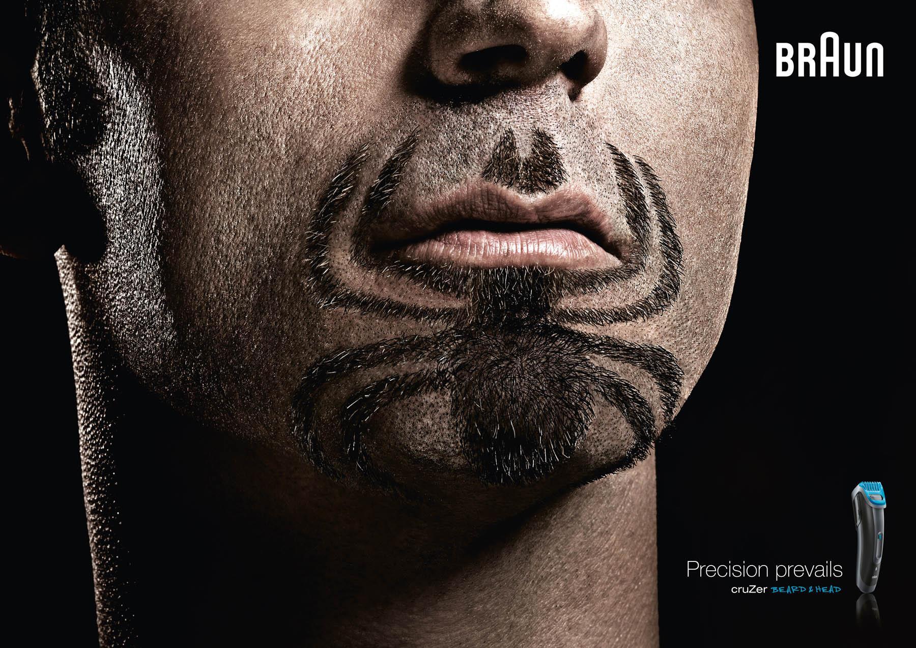 Braun Print Ad -  Super Beards Spiderman