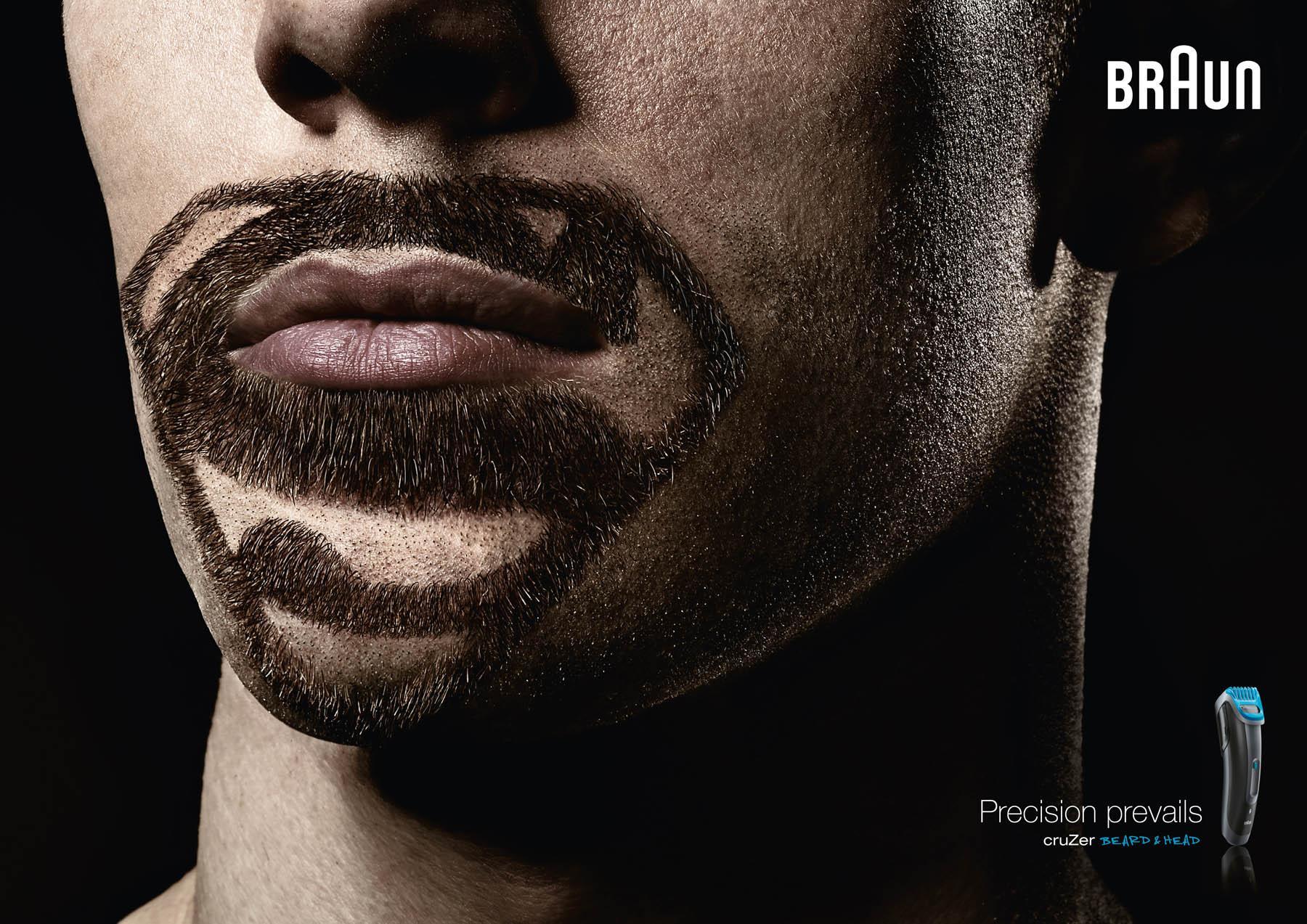 Braun Print Ad -  Super Beards Superman