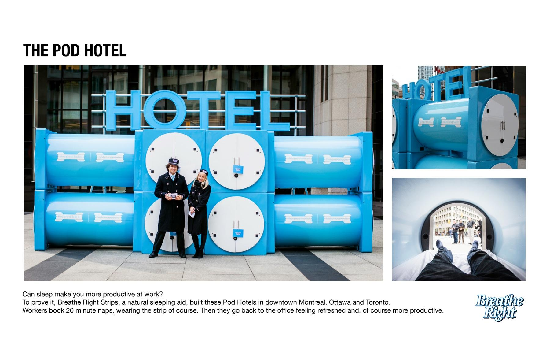 Breathe Right Ambient Ad -  Pod hotels