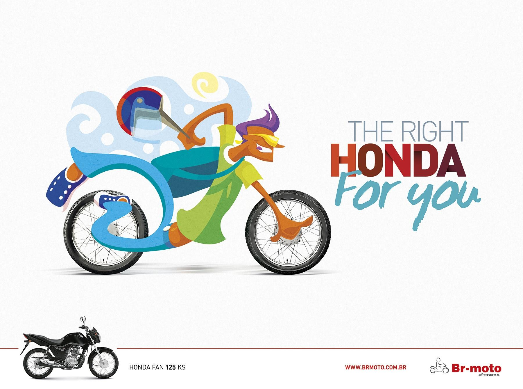 BR Motos Print Ad -  The right honda for you, 1