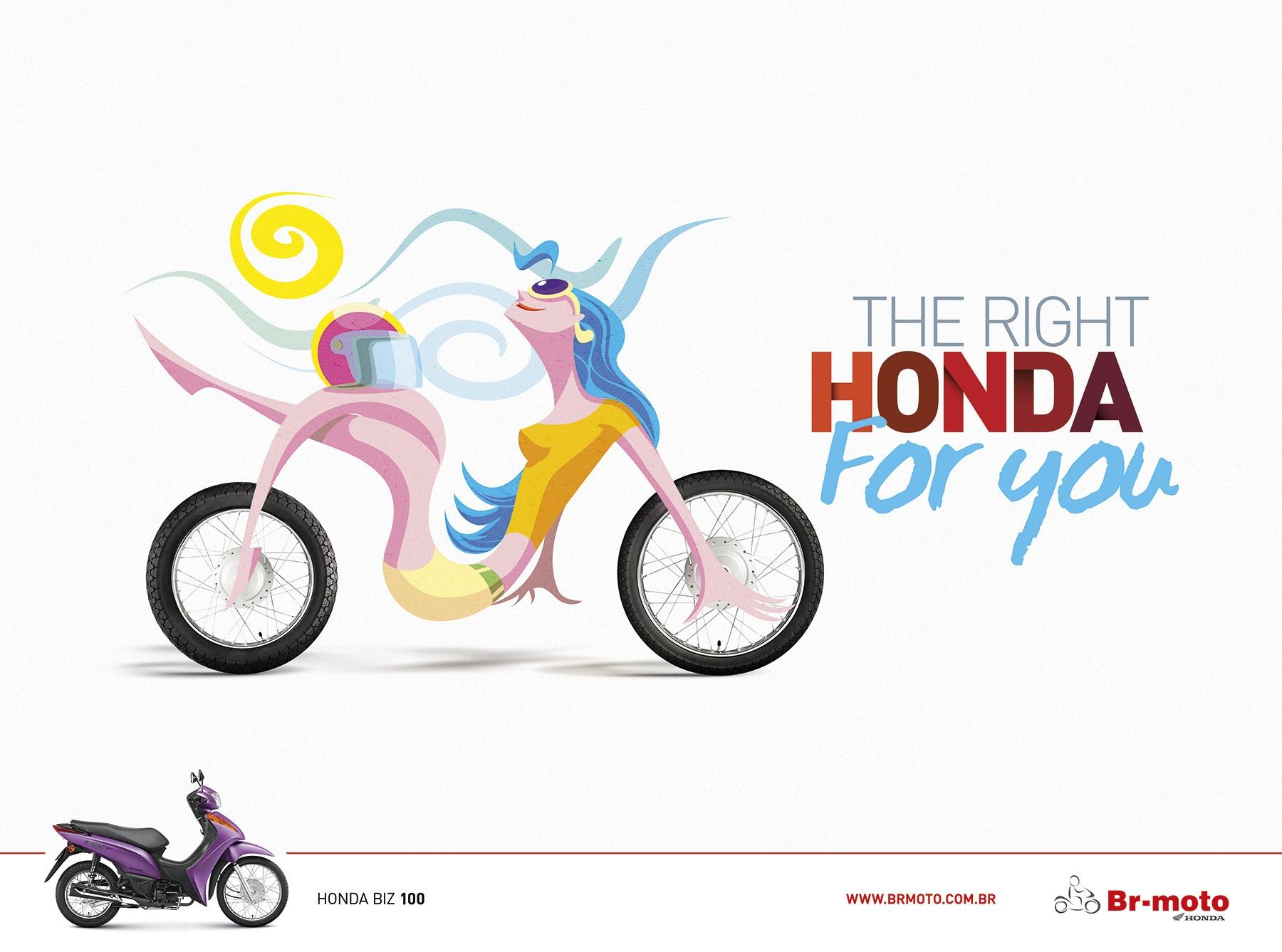 BR Motos Print Ad -  The right honda for you, 2