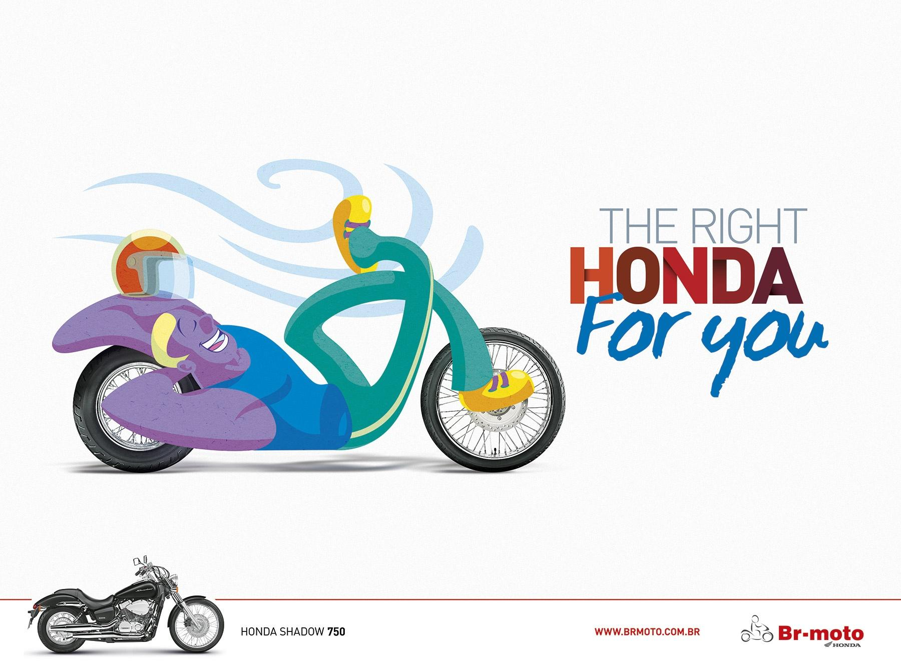 BR Motos Print Ad -  The right honda for you, 3
