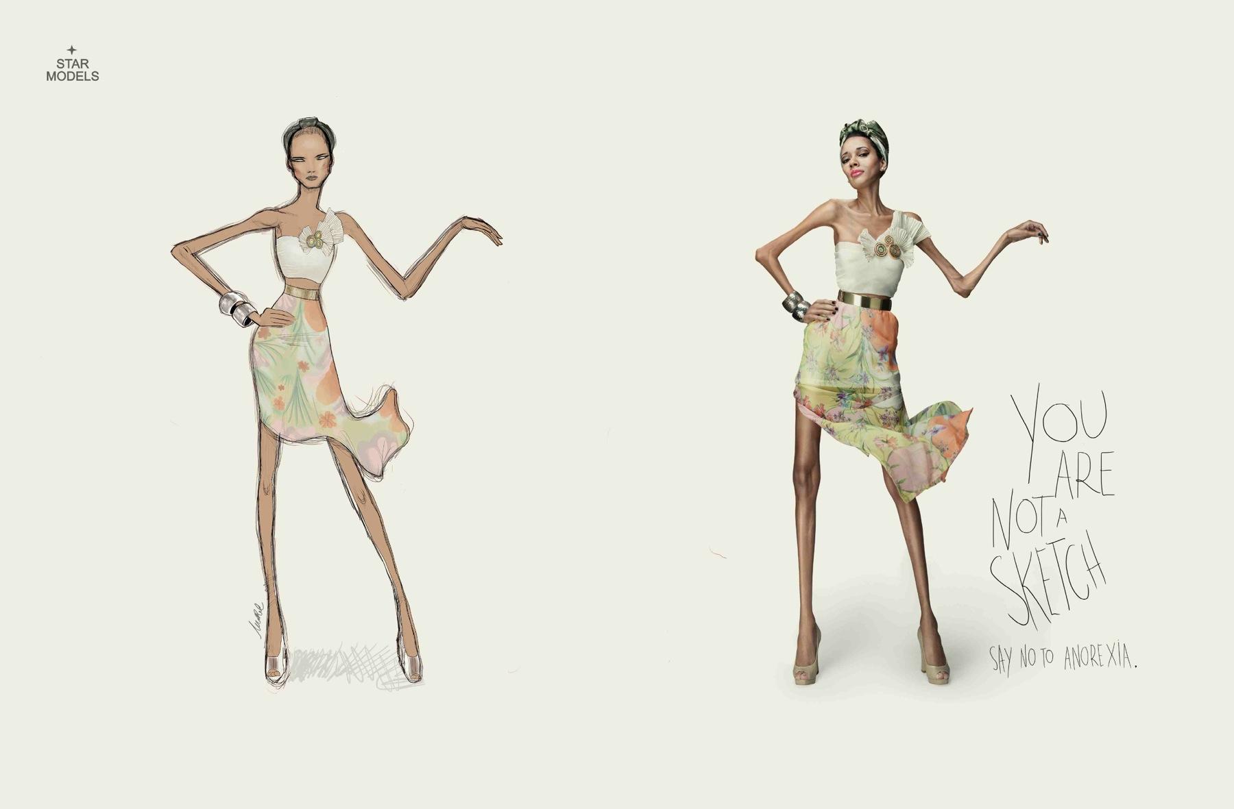Star Models Print Ad -  Sketch, 3