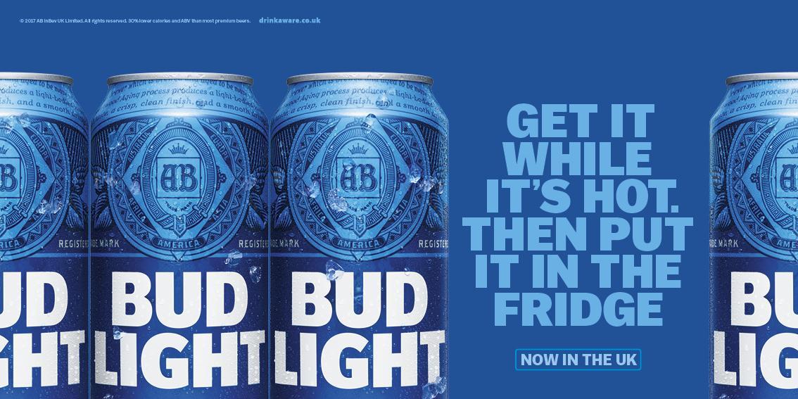Bud Light Outdoor Ad - It's hot