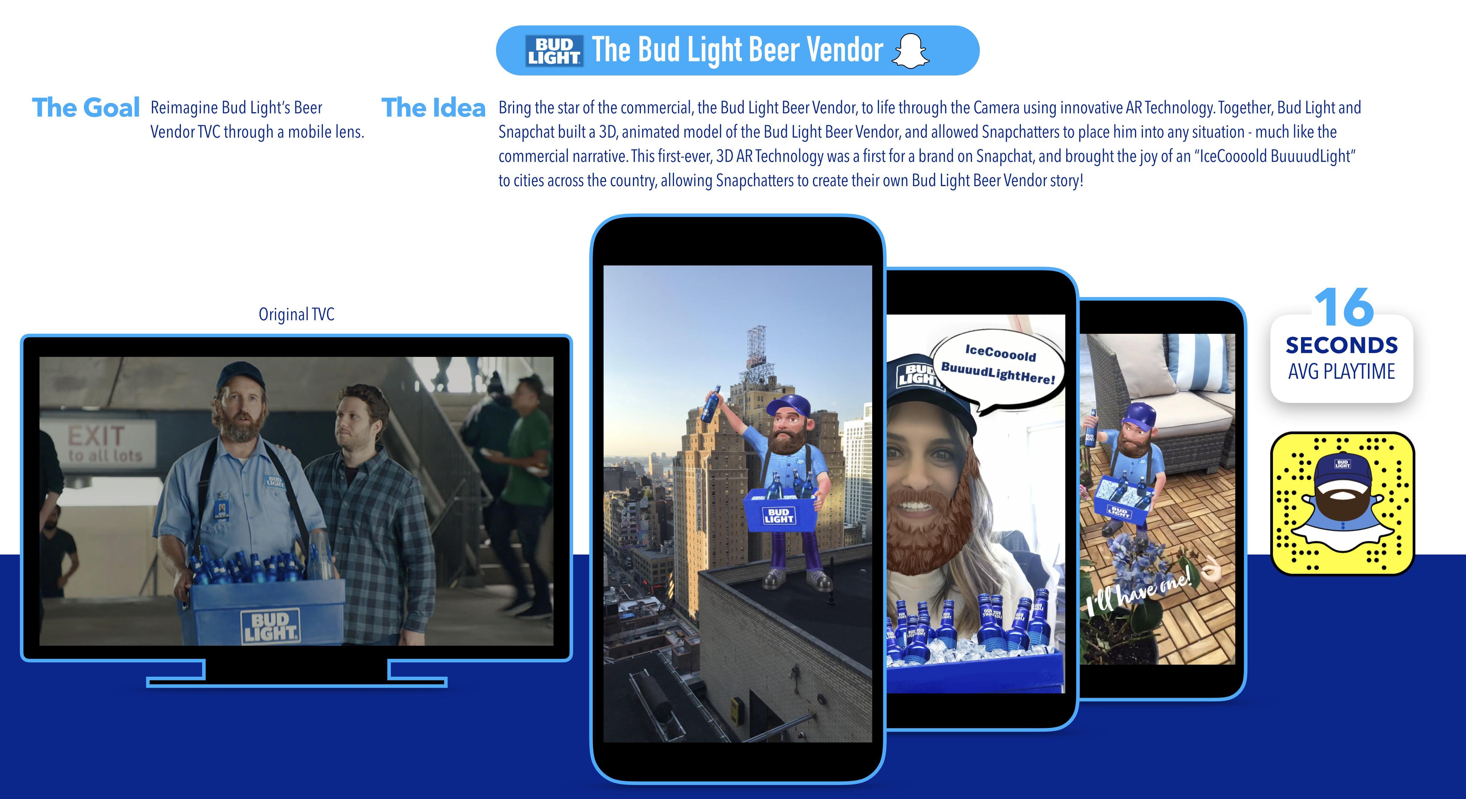 A-B InBev Digital Ad - A-B InBev - Bud Light - Beer Vendor Lens