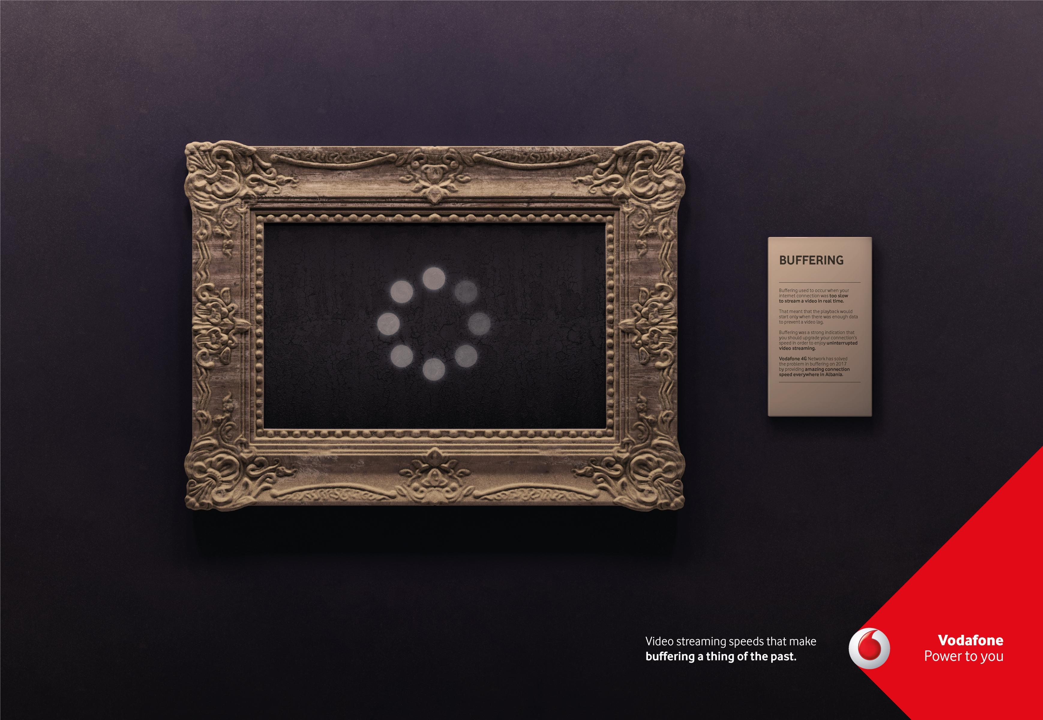 Vodafone Print Ad - Buffering, 1