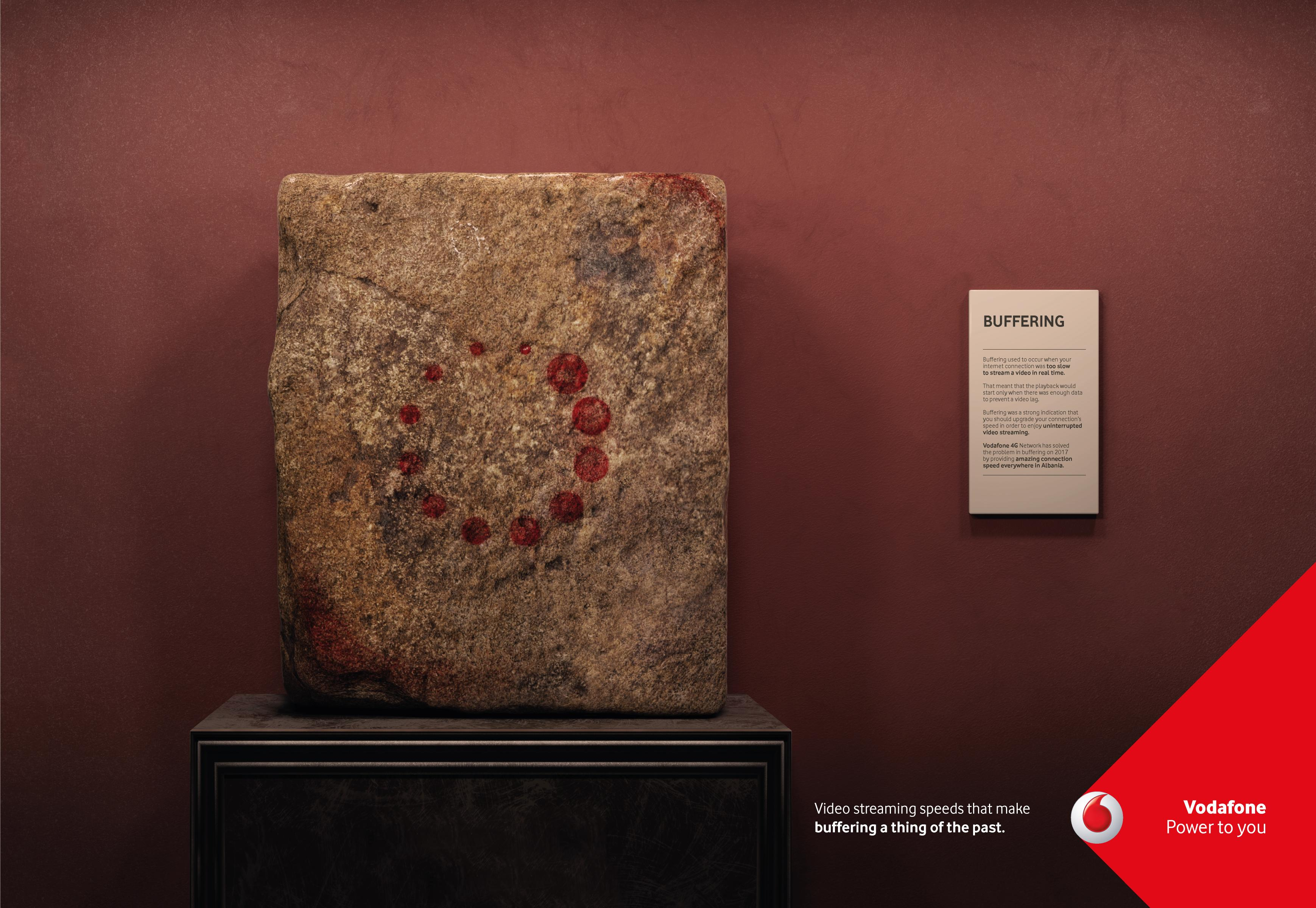 Vodafone Print Ad - Buffering, 2