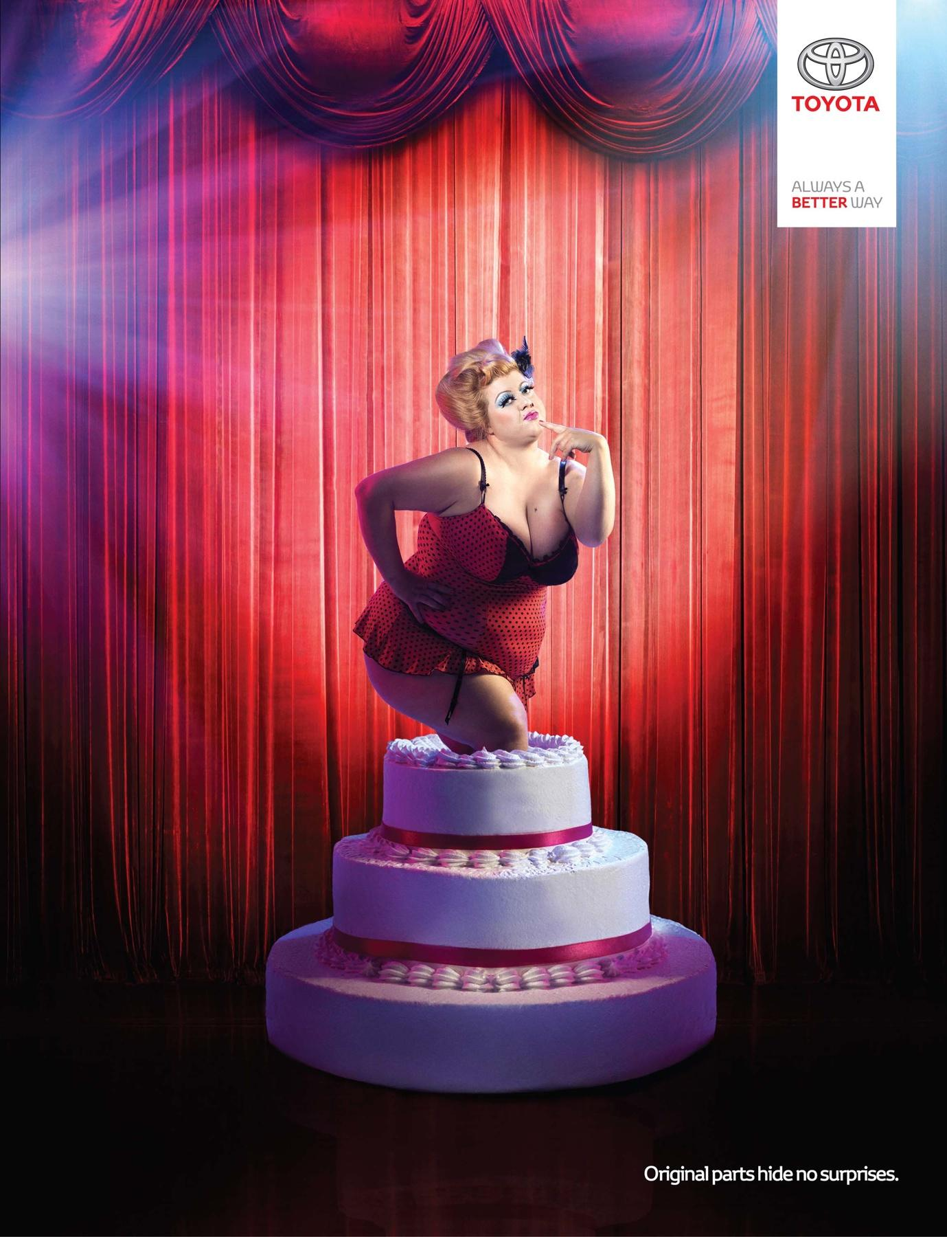 Toyota Print Ad -  Cake Girl
