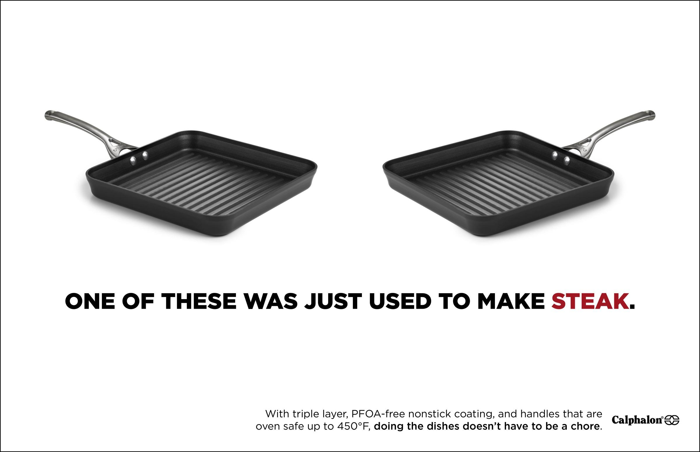 Calphalon Print Ad - Can't Tell The Difference - Steak