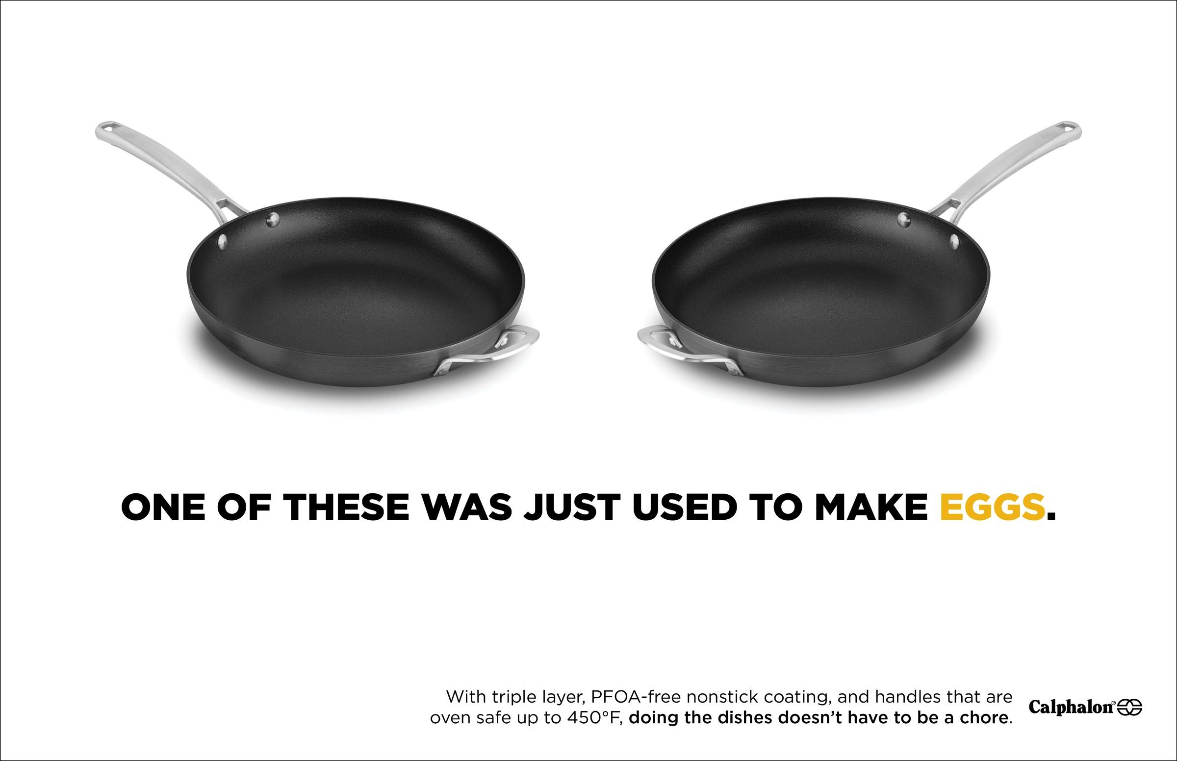 Calphalon Print Ad - Can't Tell The Difference - Eggs