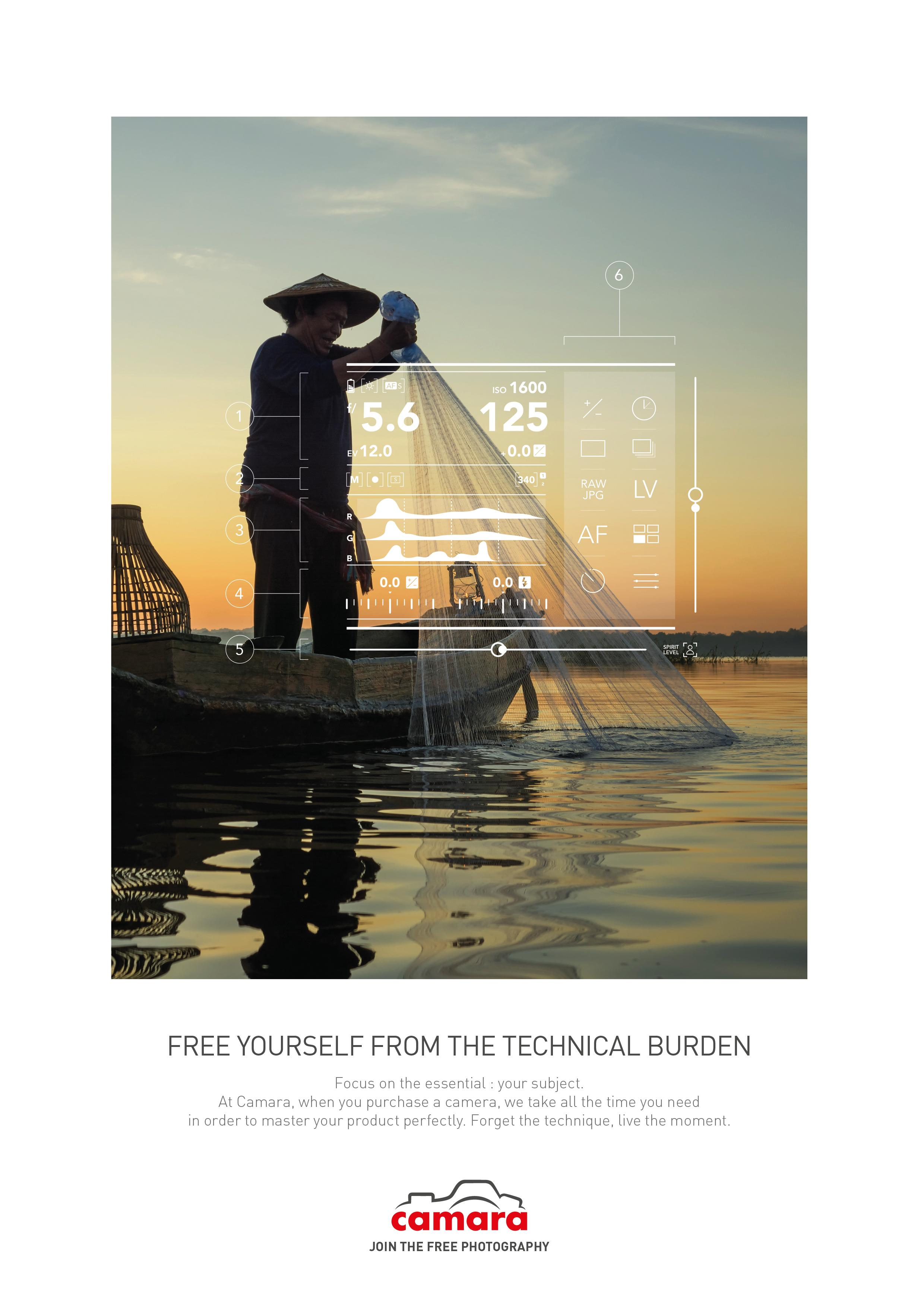 Camara Print Ad - The Fisherman