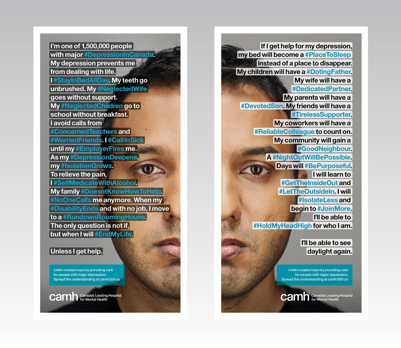 CAMH Print Ad -  #DepressionInCanada
