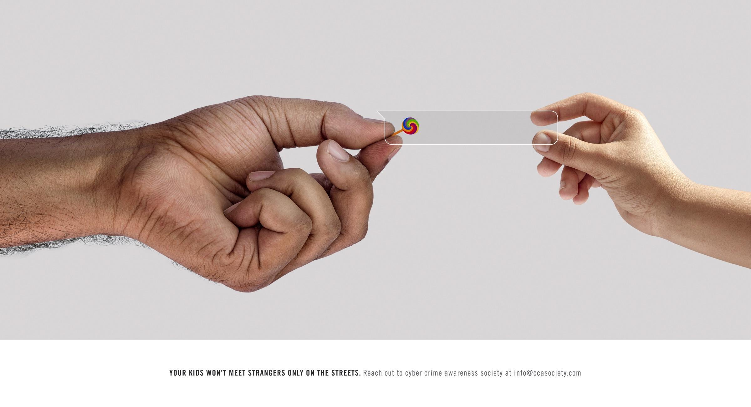 Cyber Crime Awareness Society Print Ad - Online Predators, Candy