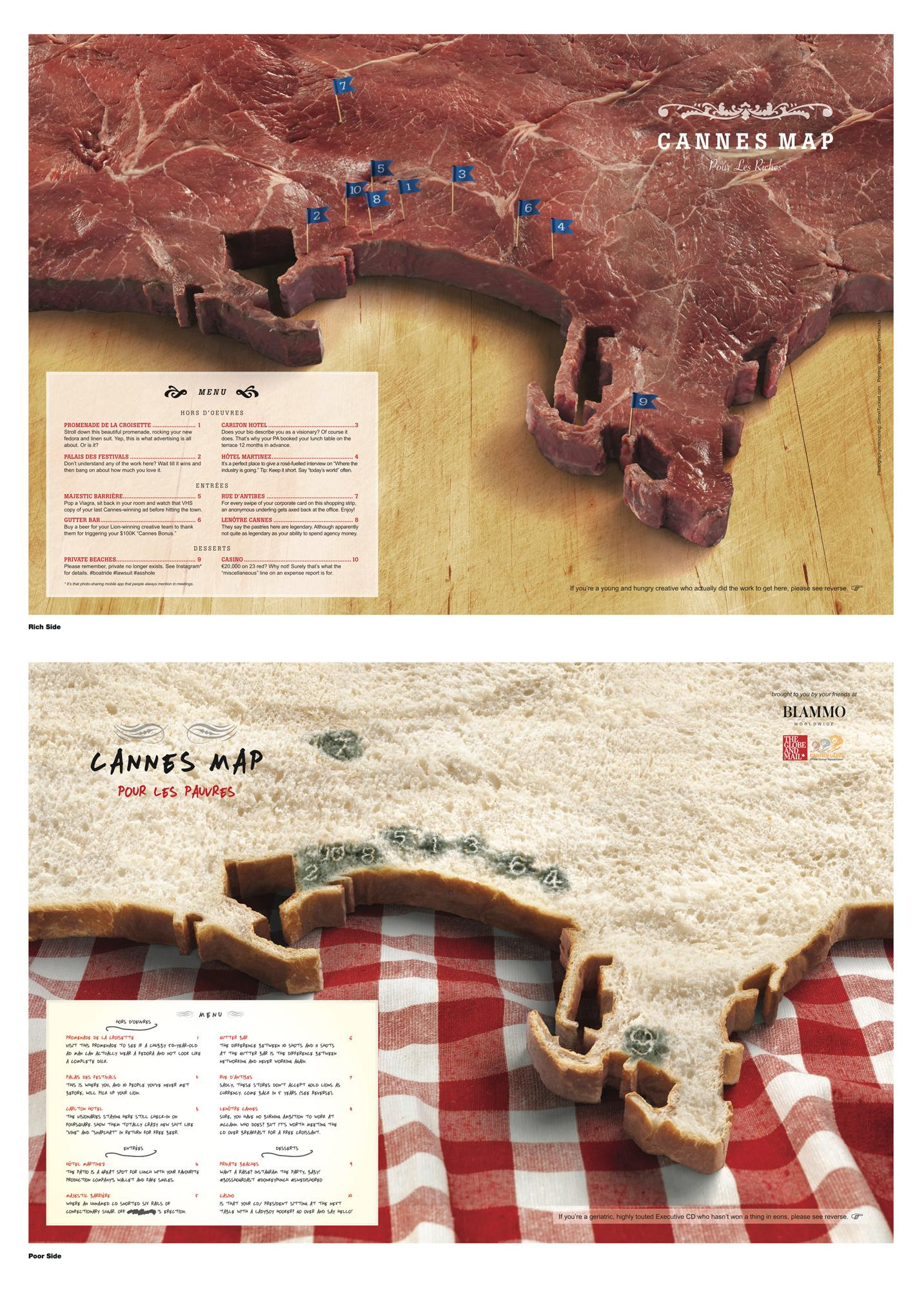 Cannes Lions Direct Ad -  Satirical Map of Cannes