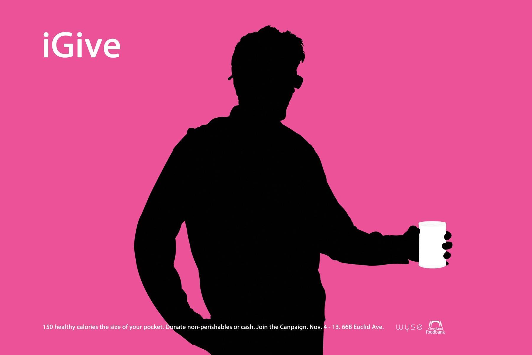 Cleveland Foodbank Print Ad -  iGive