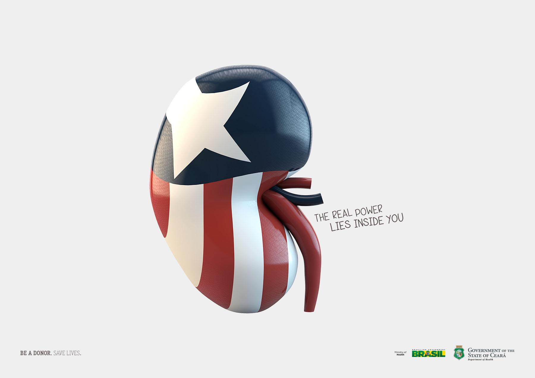 Government of the State of Ceará Print Ad -  Captain America
