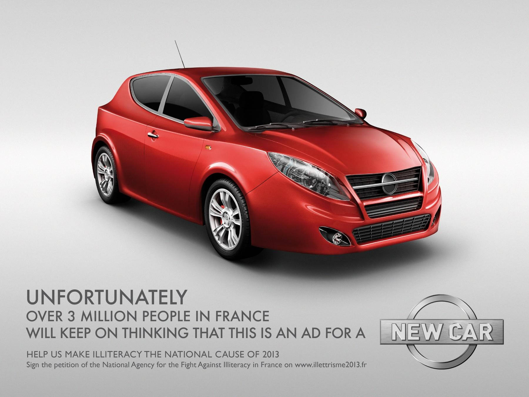 Fight for literacy Print Ad -  Car