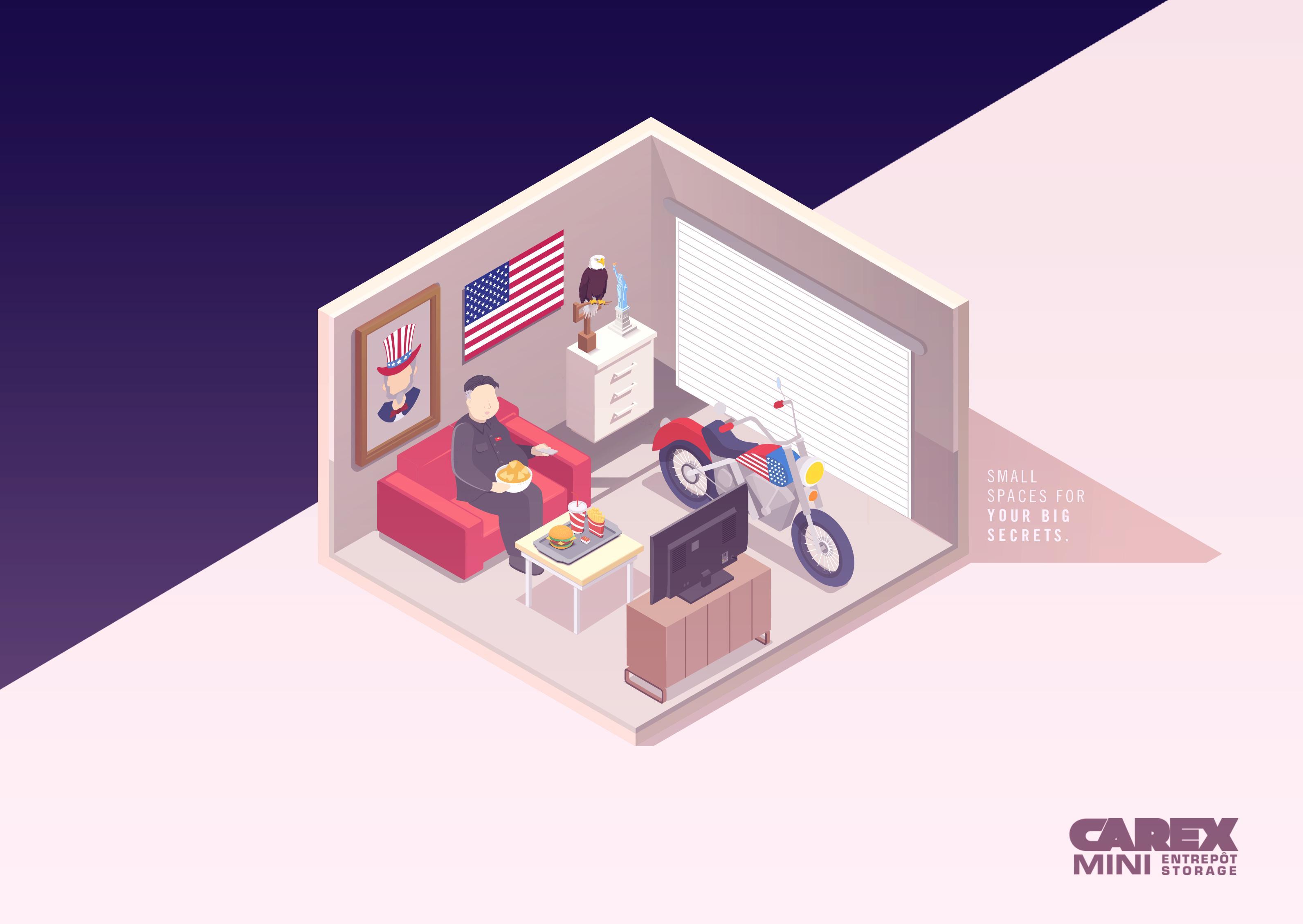 Carex Mini-Storage Print Ad - Kim Jong Un