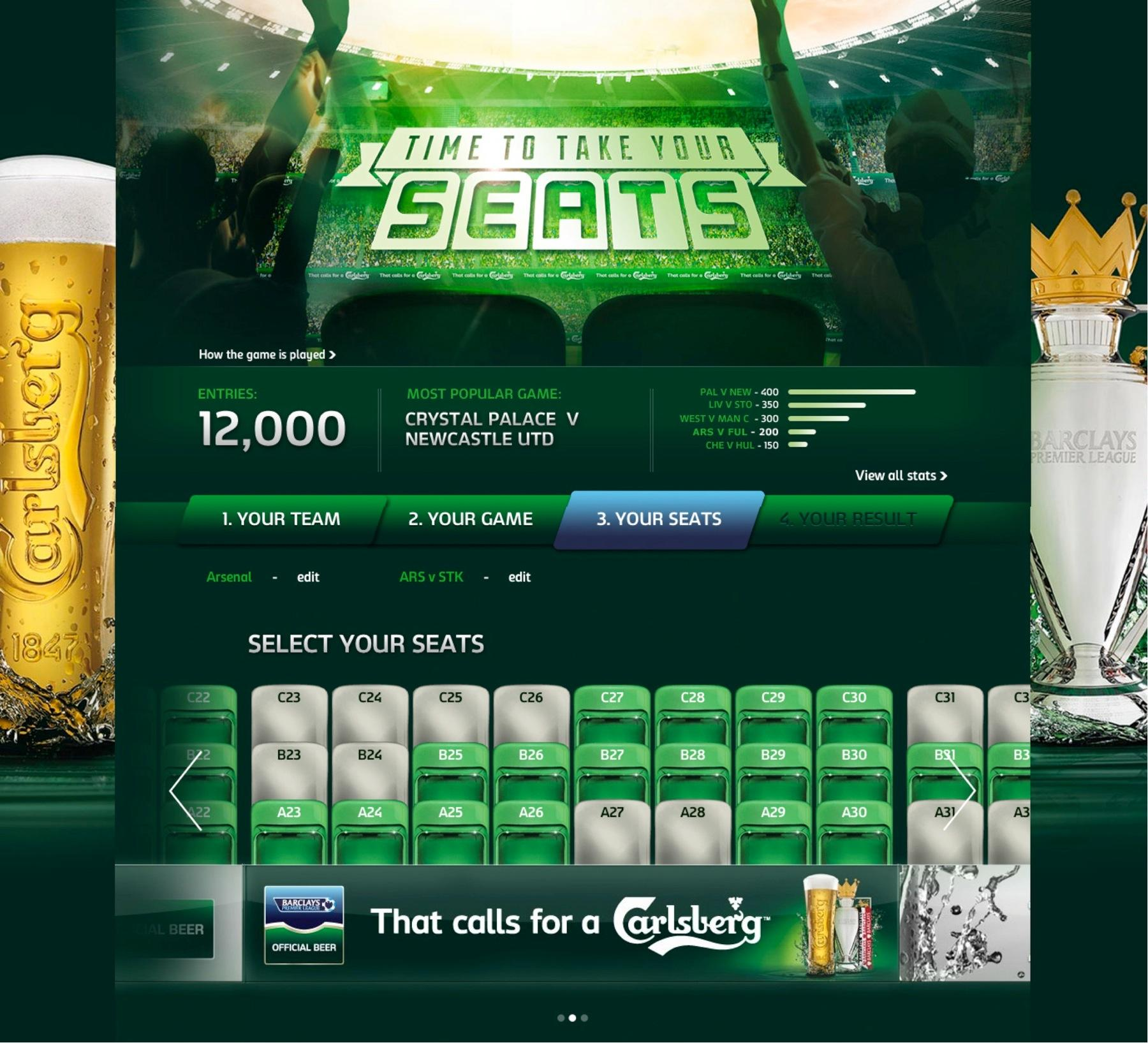 Carlsberg Digital Ad -  Time to take your seats