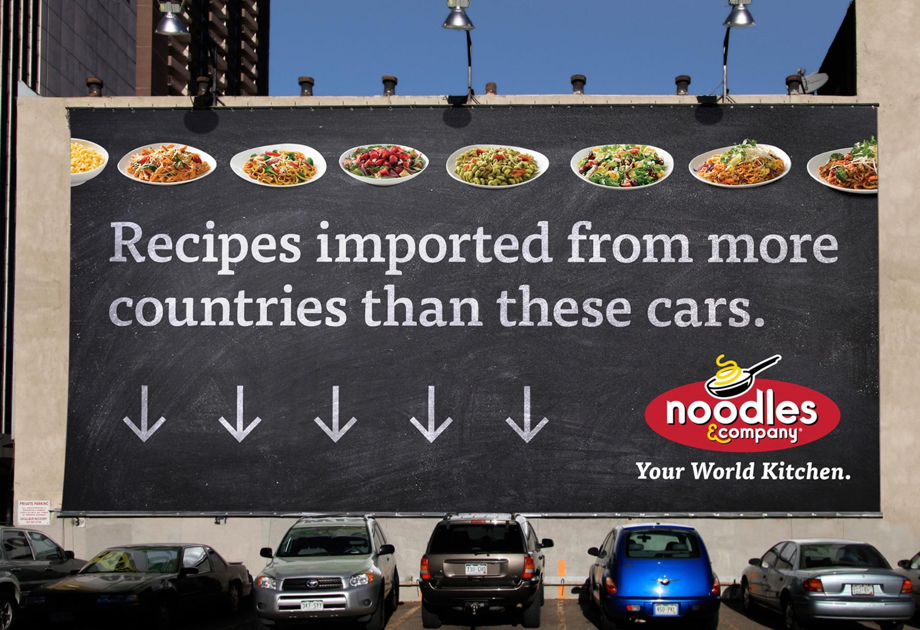 Noodles & Company Outdoor Ad -  Cars