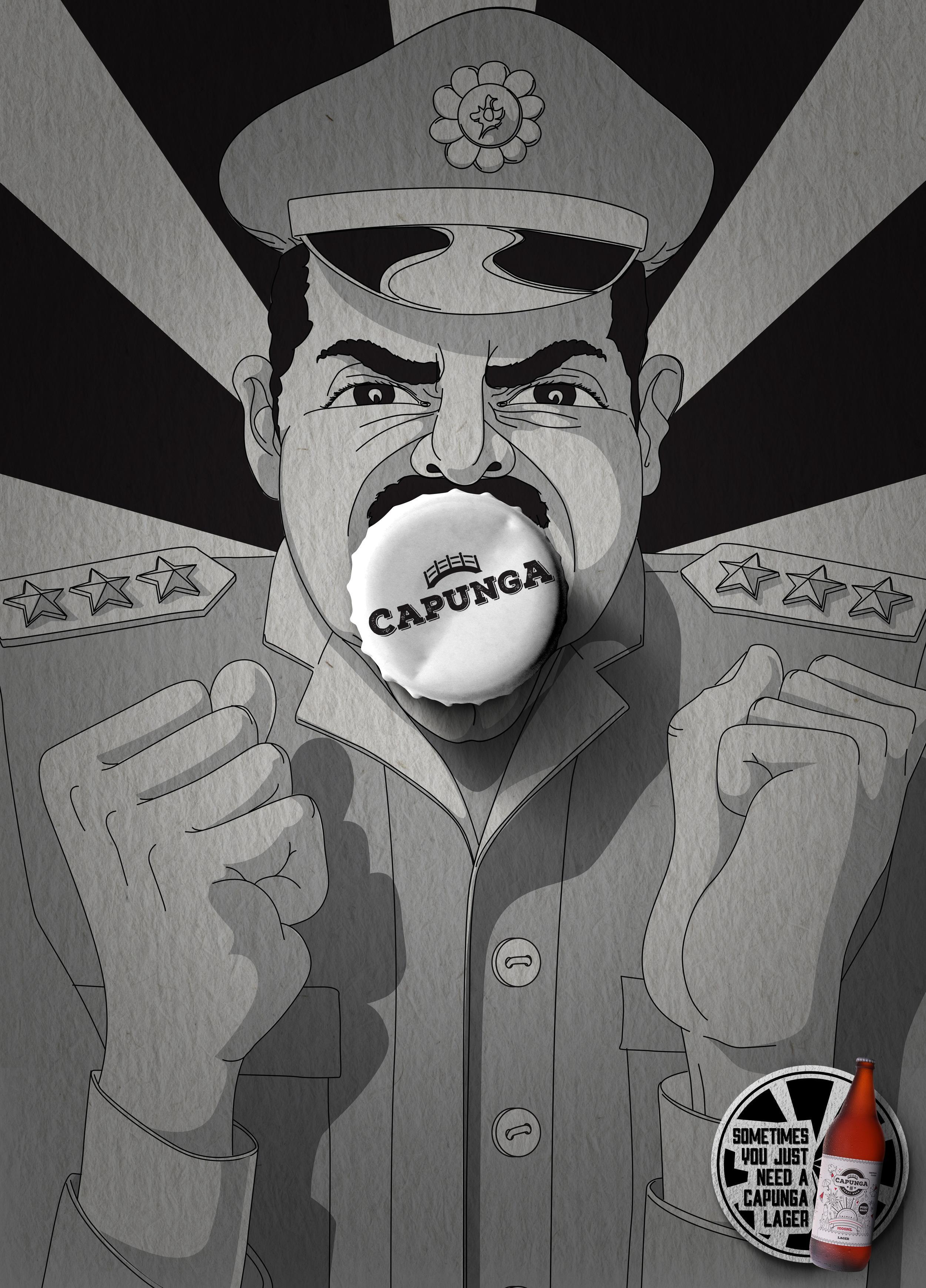 Capunga Craft Beer Print Ad - Military
