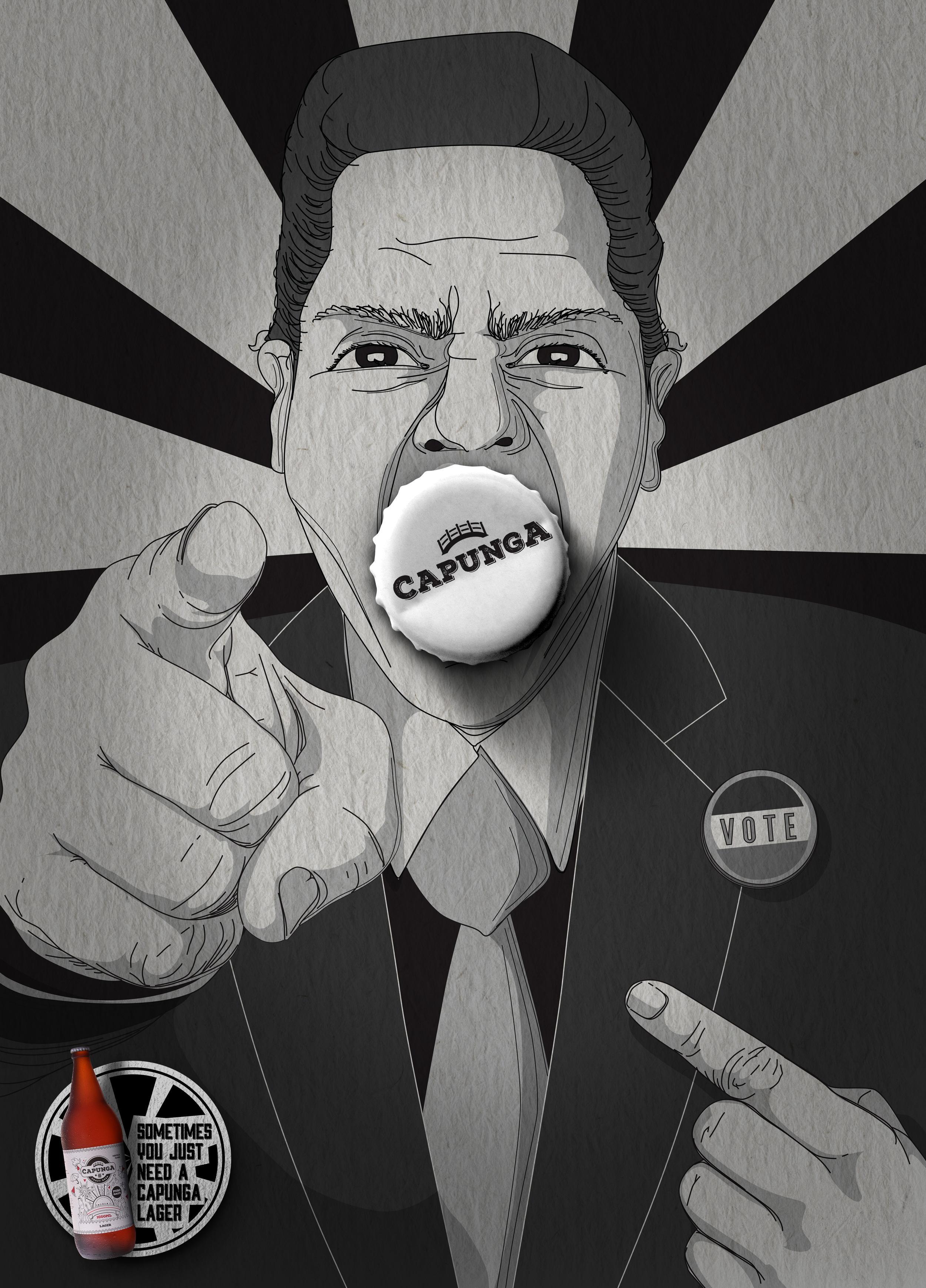 Capunga Craft Beer Print Ad - Politician