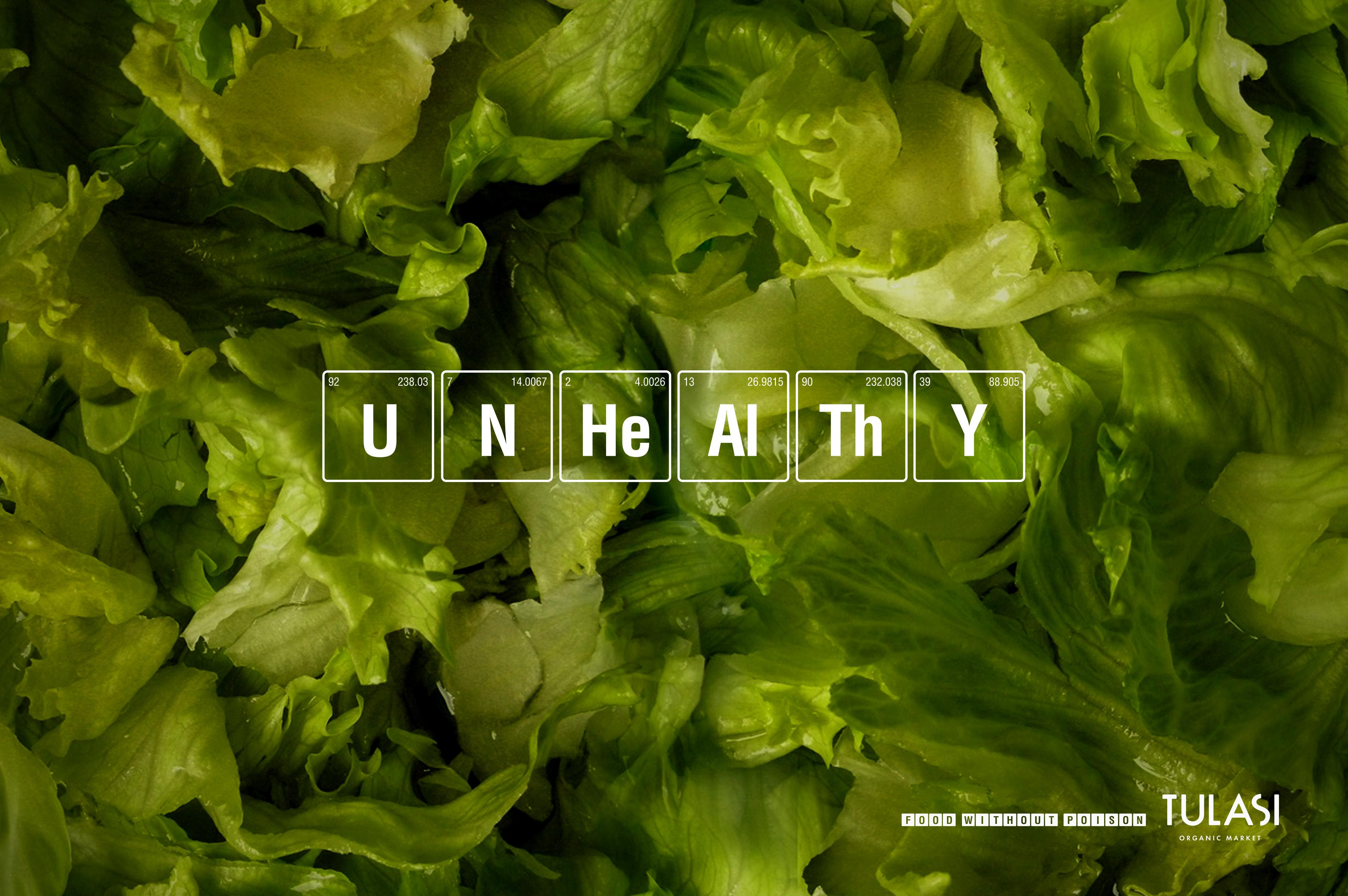 Tulasi Organic Market Print Ad - Lettuce