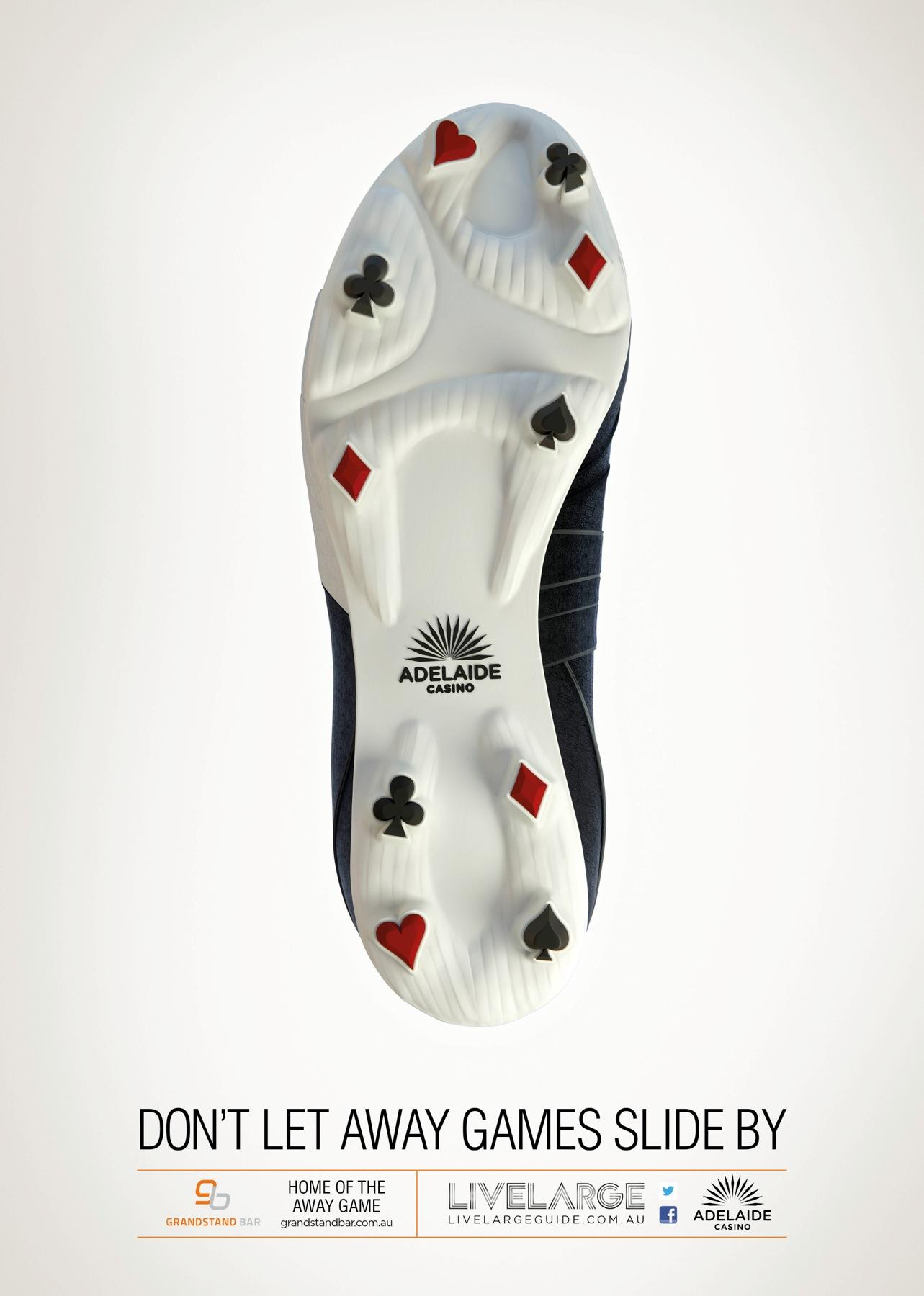 Adelaide Casino Print Ad -  Shoe