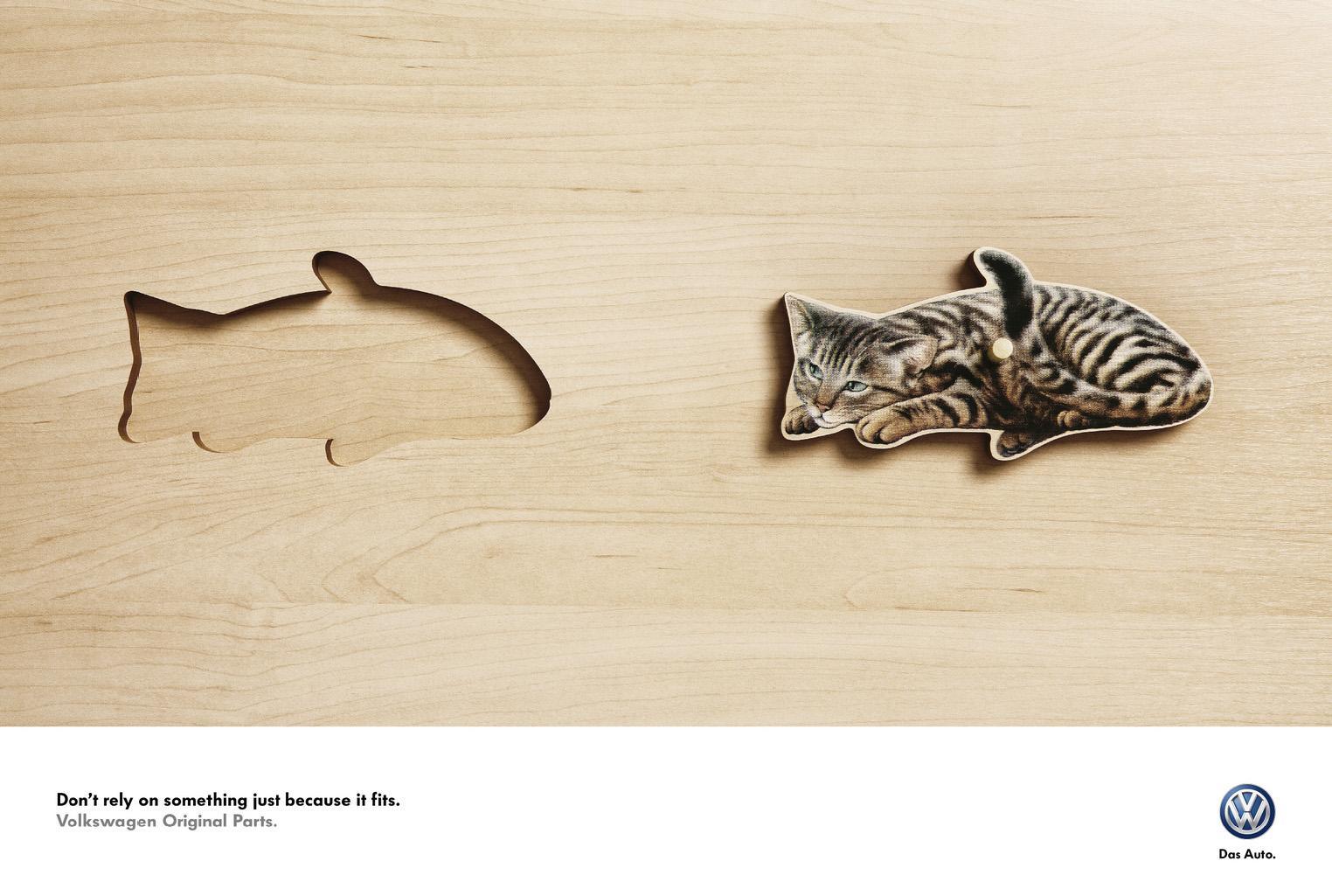 Volkswagen Outdoor Advert By BBDO: Cat | Ads of the World™
