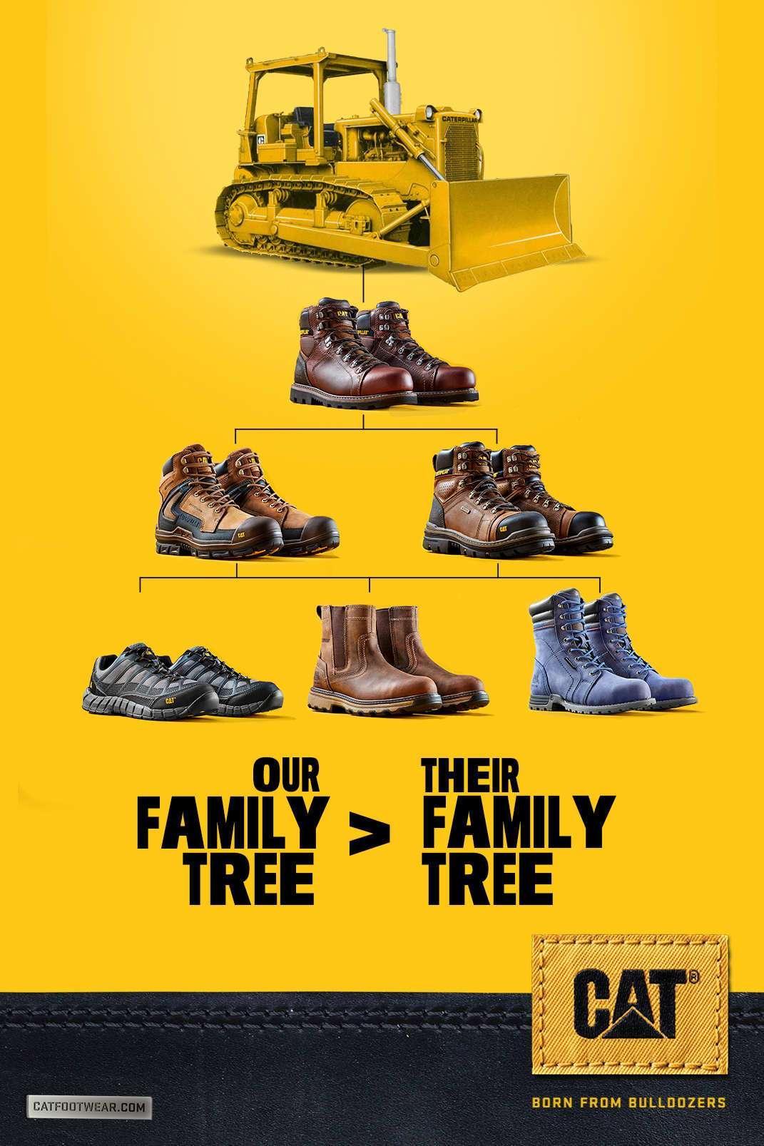 Cat Footwear Print Ad - Family Tree