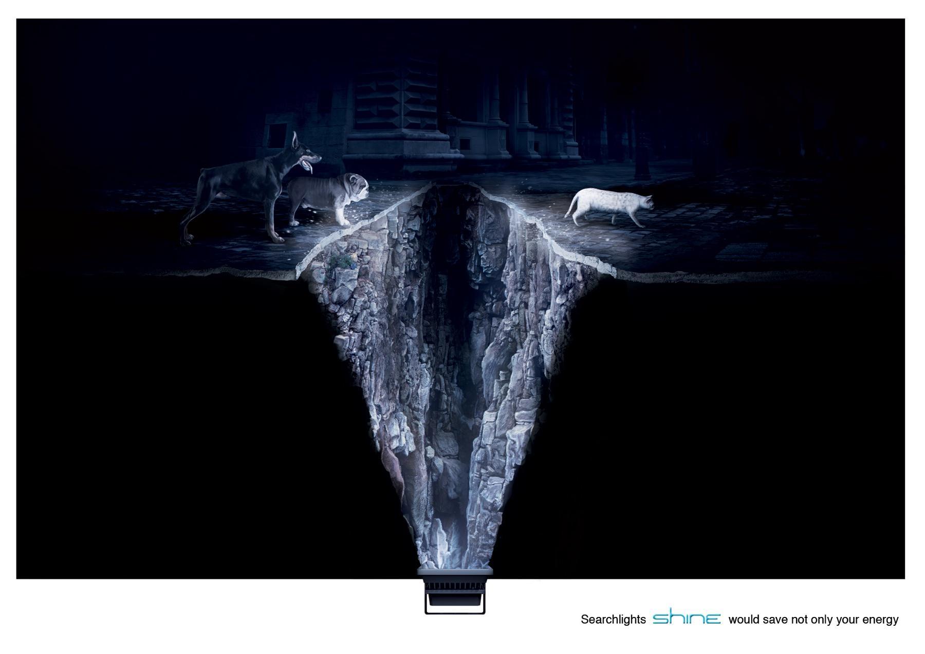 Shine Searchlights Print Ad -  Cat