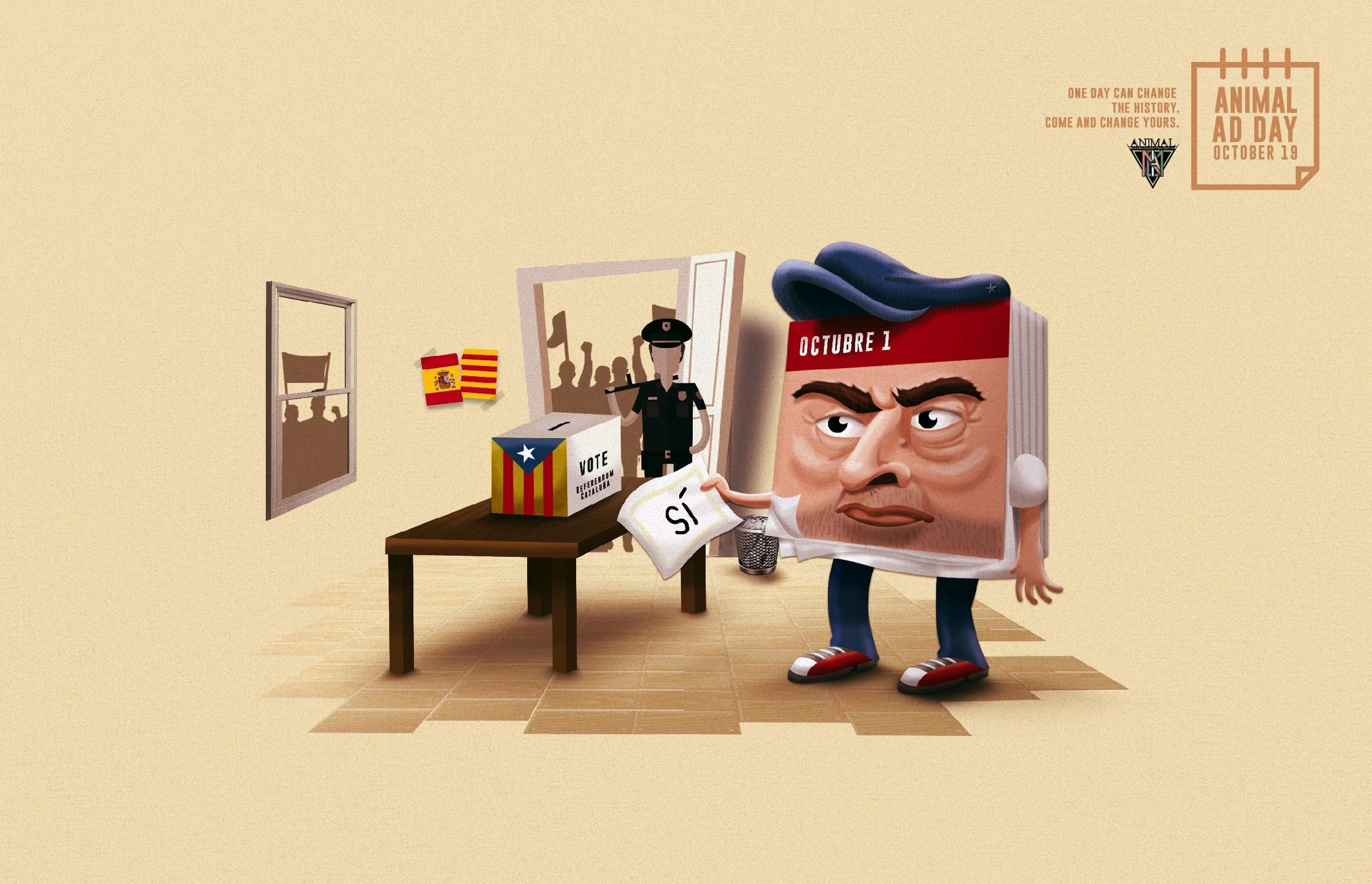 Animal Ad Day School Print Ad - Cataluña