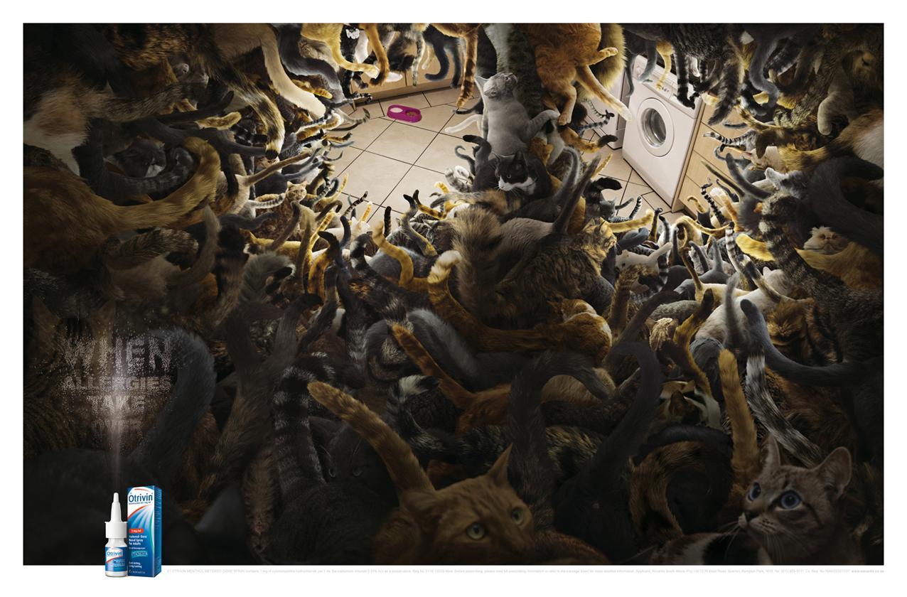 Otrivin Print Ad -  Cats