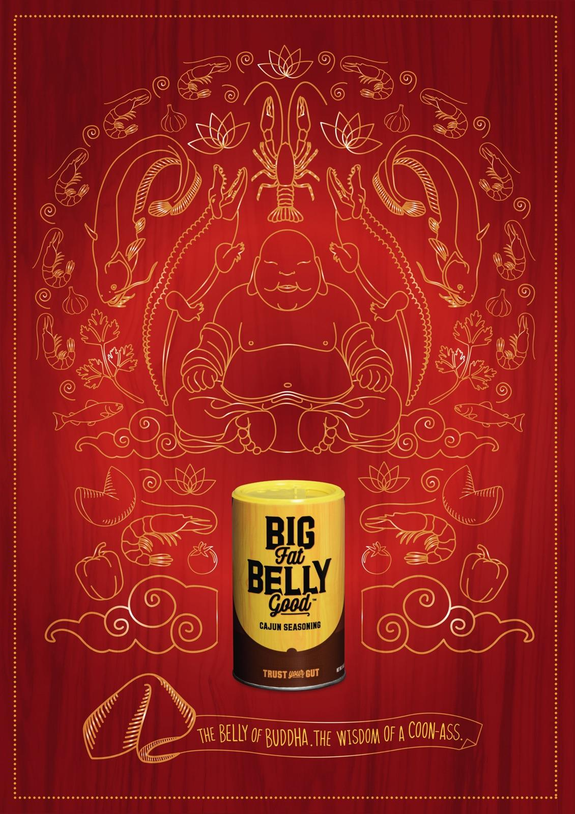 Big Fat Belly Good Print Ad - Buddha Belly