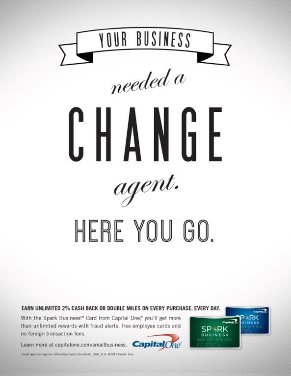 Capital One Print Ad -  Change