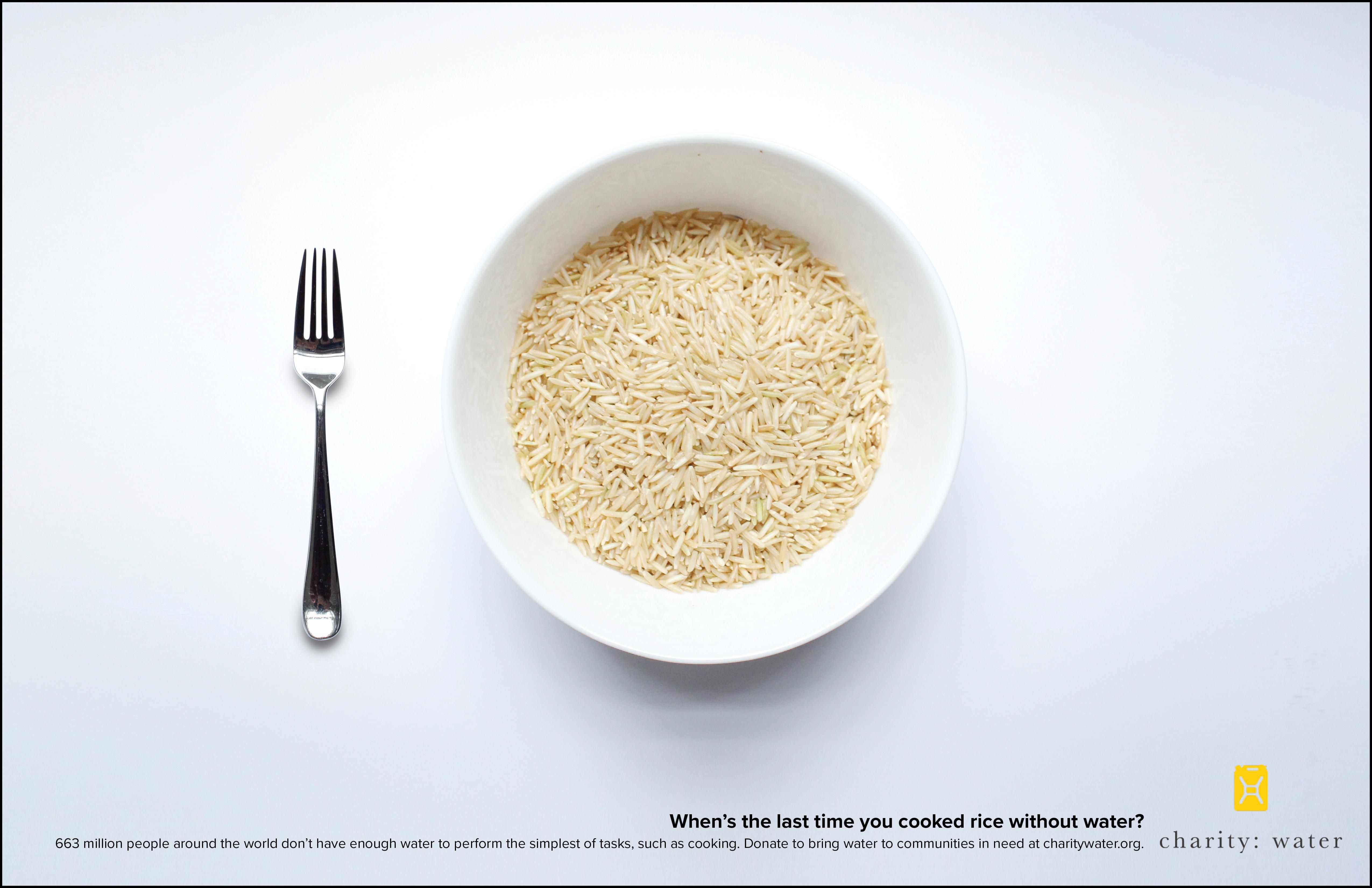 Charity: water Print Ad - Rice