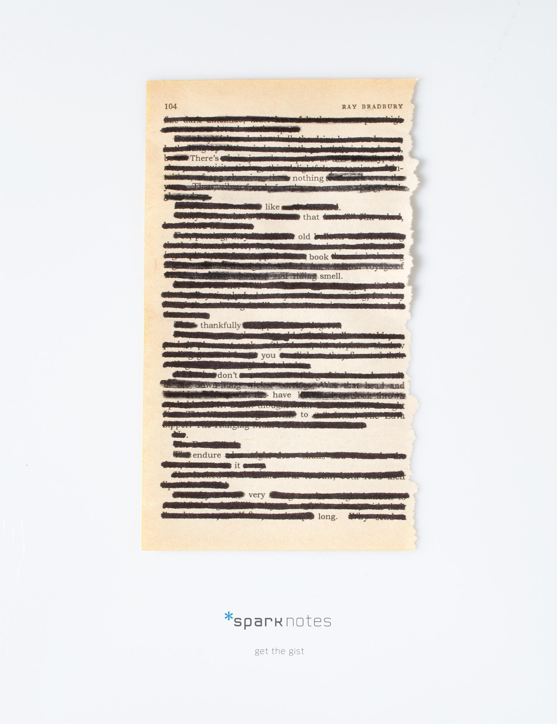 SparkNotes Print Ad -  Get the gist, 1