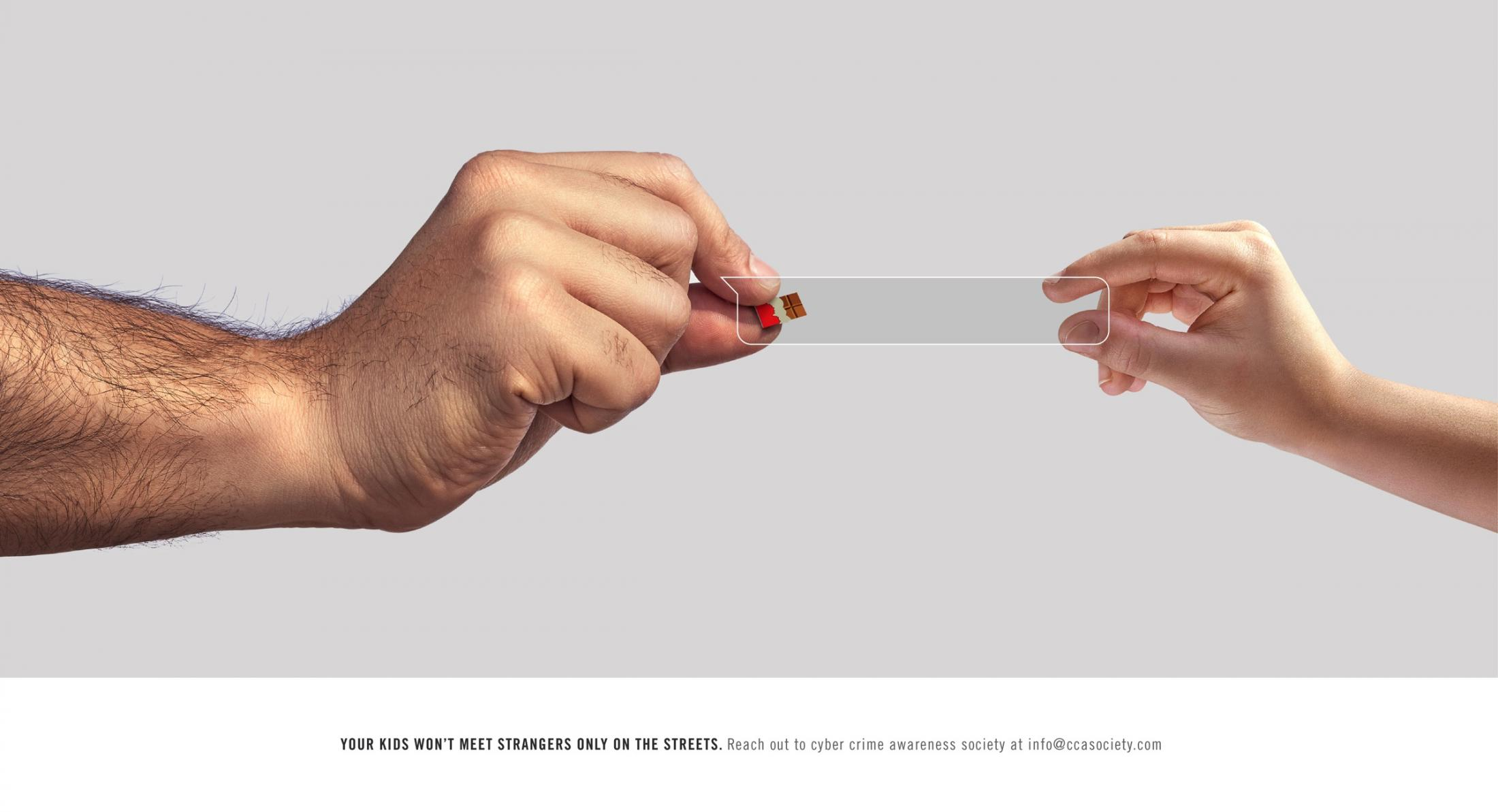 Cyber Crime Awareness Society Print Ad - Online Predators, Chocolate