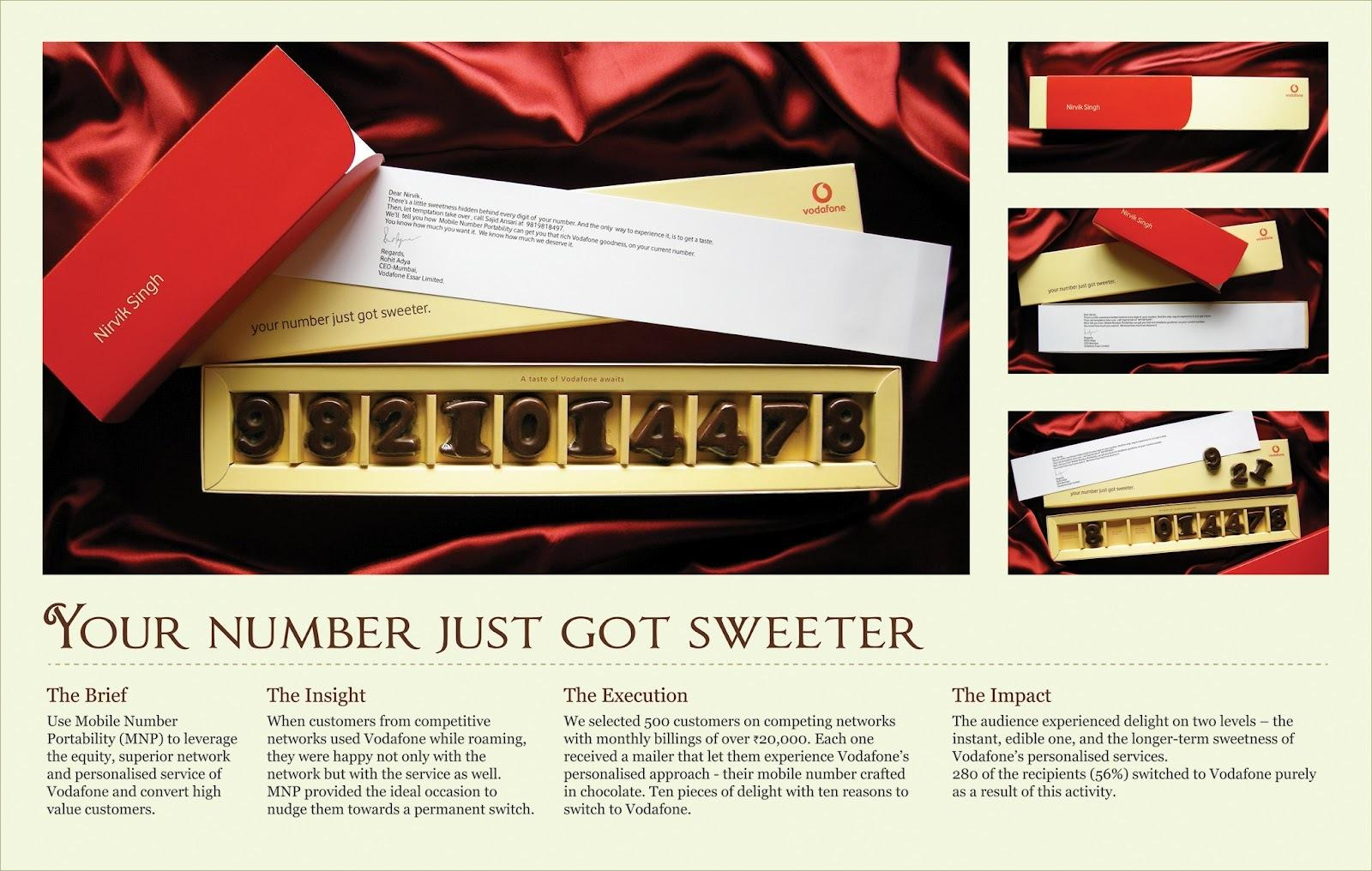 Vodafone Direct Ad -  Chocolate Mailer
